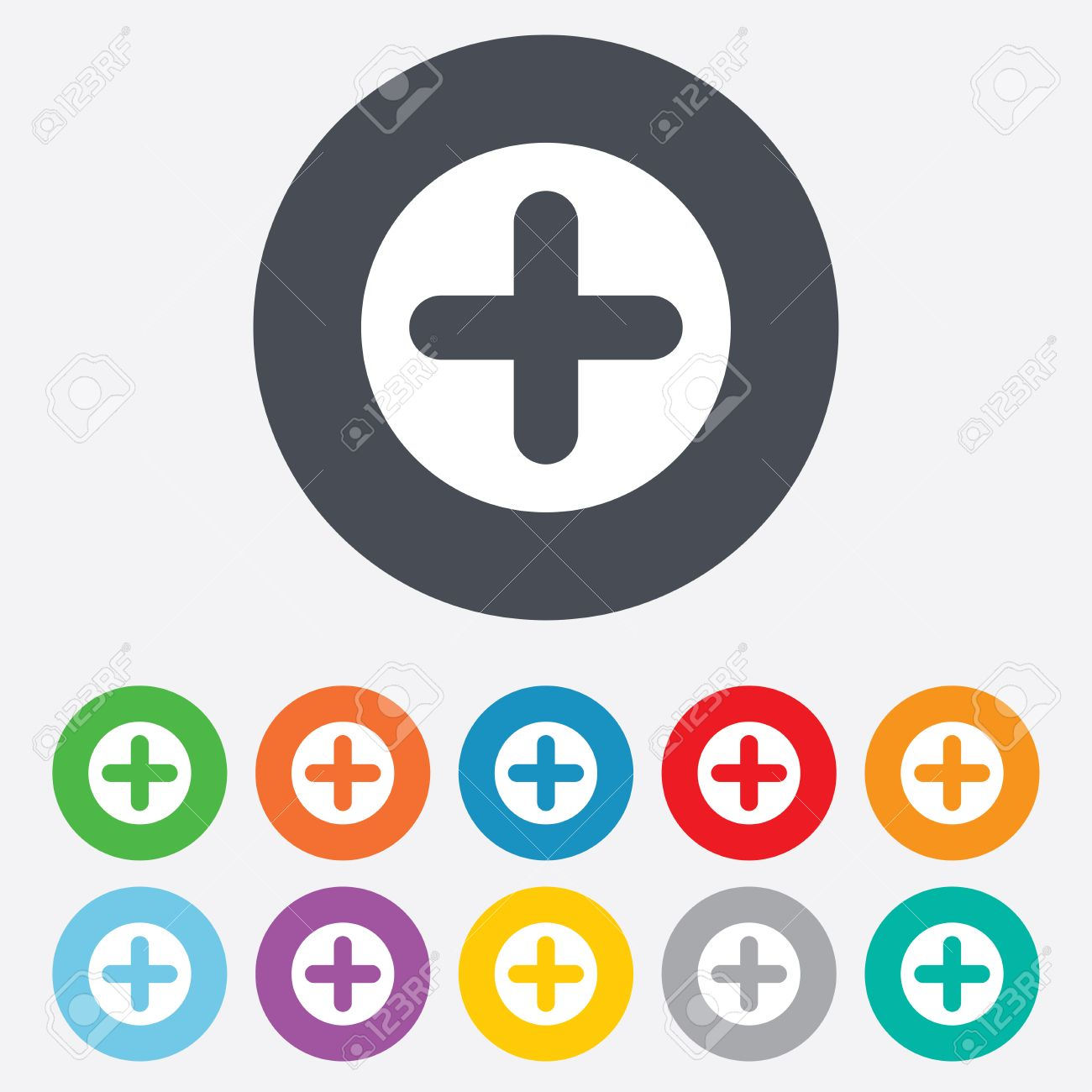 Plus sign icon positive symbol zoom in round colourful 11 plus sign icon positive symbol zoom in round colourful 11 buttons stock biocorpaavc Choice Image