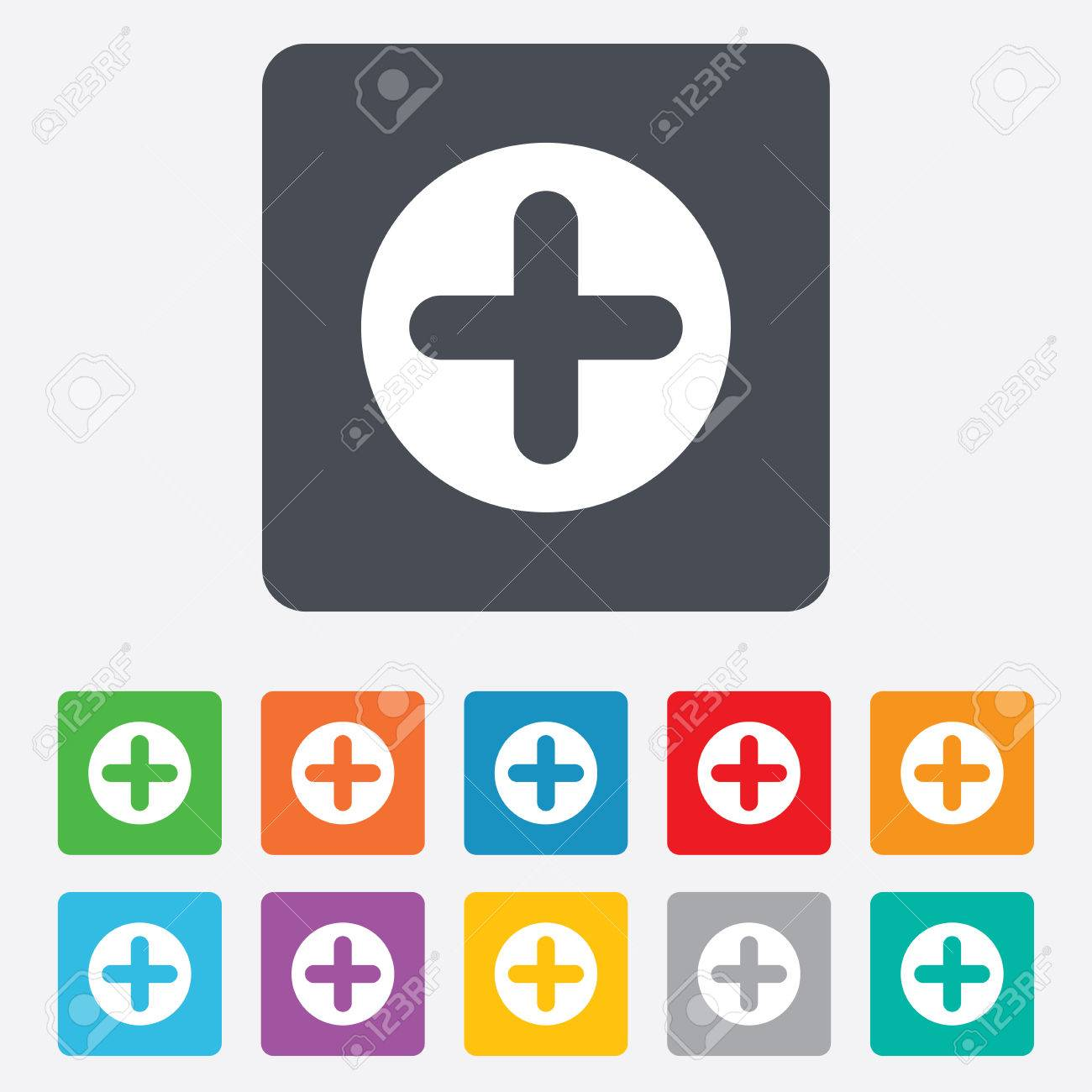 Plus sign icon positive symbol zoom in rounded squares 11 plus sign icon positive symbol zoom in rounded squares 11 buttons vector biocorpaavc Choice Image