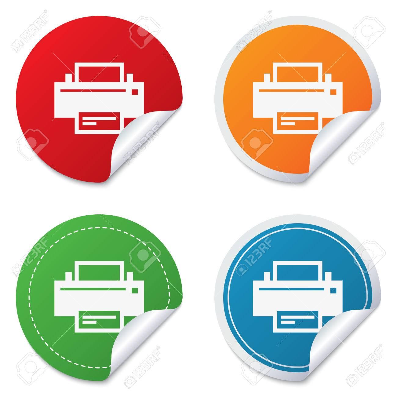 image regarding Round Stickers Printable identified as Print indicator icon. Printing logo. Print upon. Spherical stickers