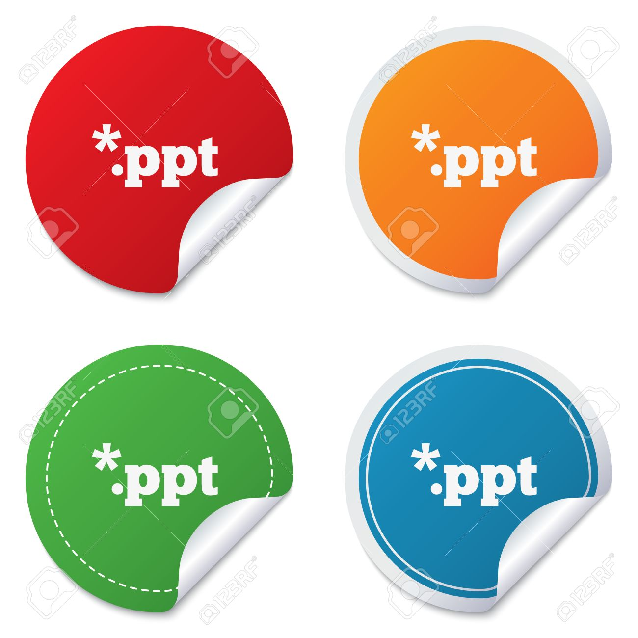 File Presentation Icon. Download PPT Button. PPT File Extension ...