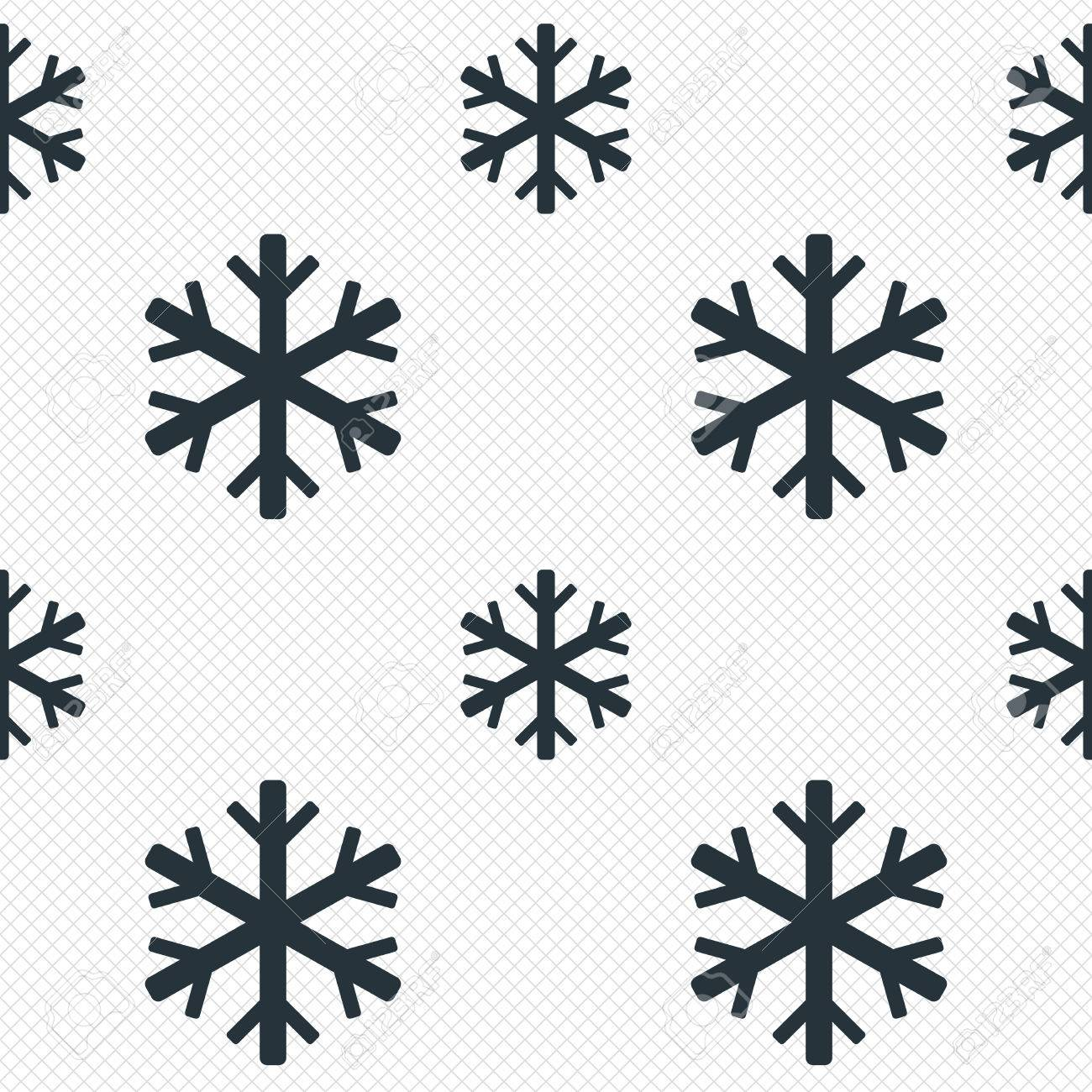 snowflake sign icon air conditioning symbol seamless grid lines
