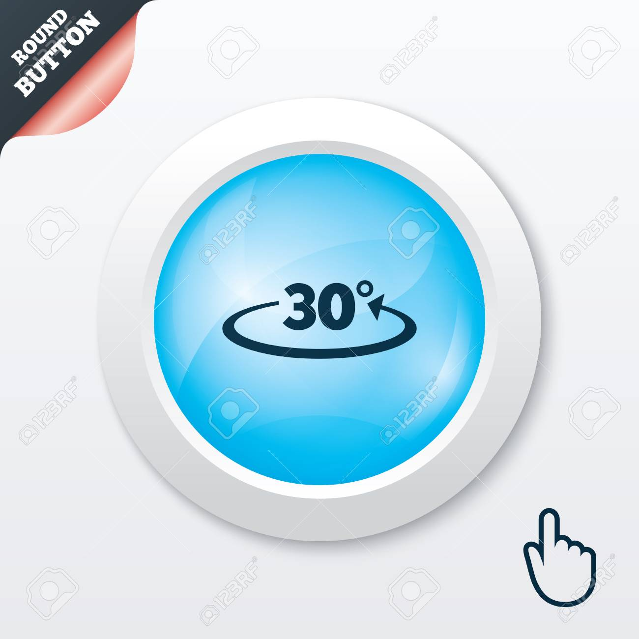 winkel 30 grad unterzeichnen symbol. geometrie mathe symbol. blau