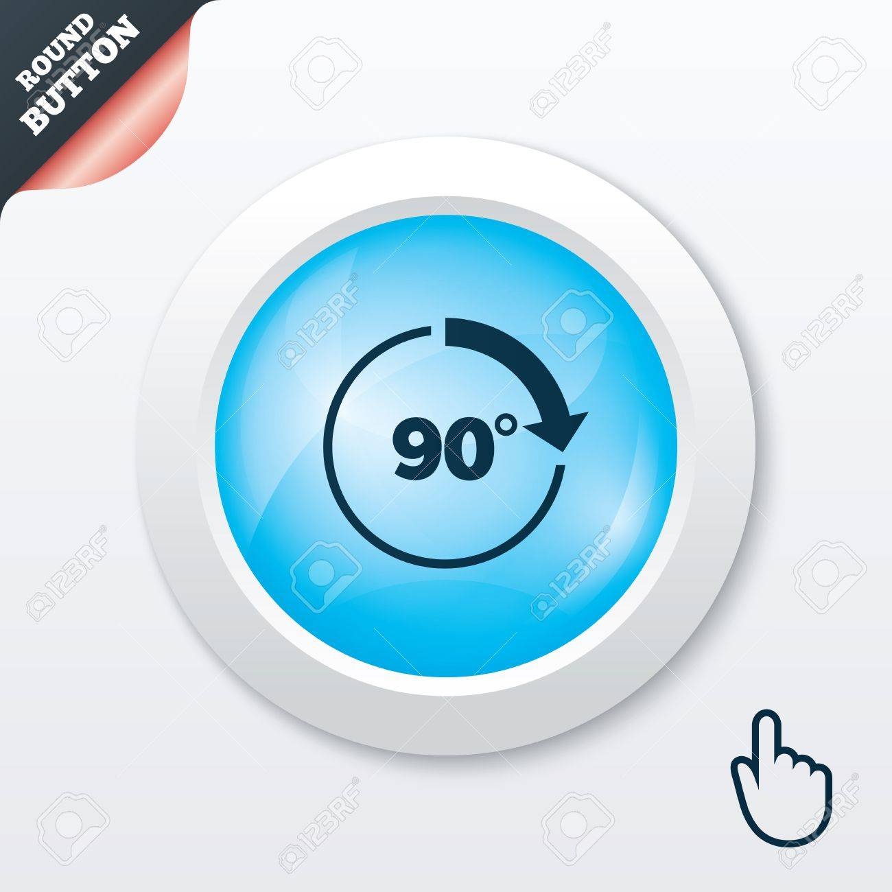 Angle 90 Degrees Sign Icon Geometry Math Symbol Right Angle Blue