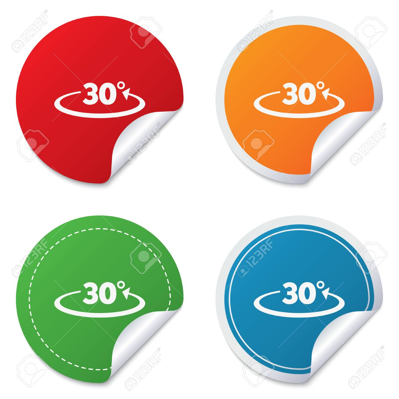 winkel 30 grad-zeichen-symbol. geometrie mathe symbol. aufkleber