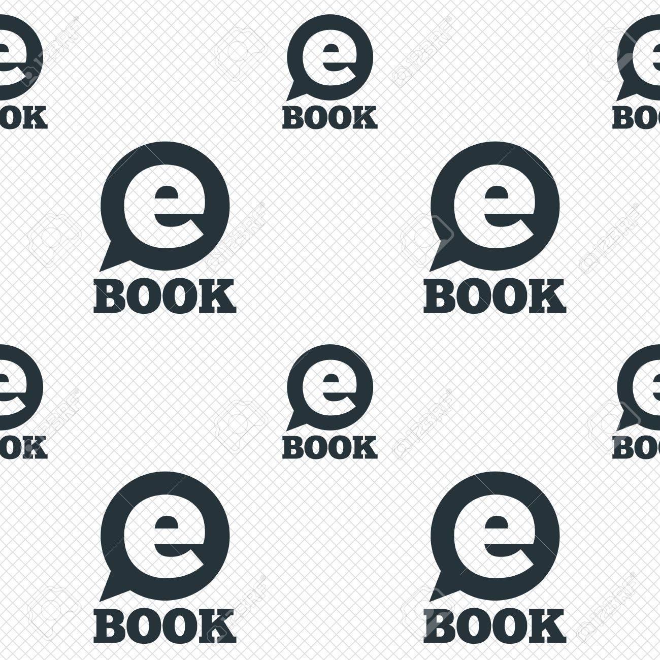E-Book Sign Icon. Electronic Book Symbol. Ebook Reader Device ...