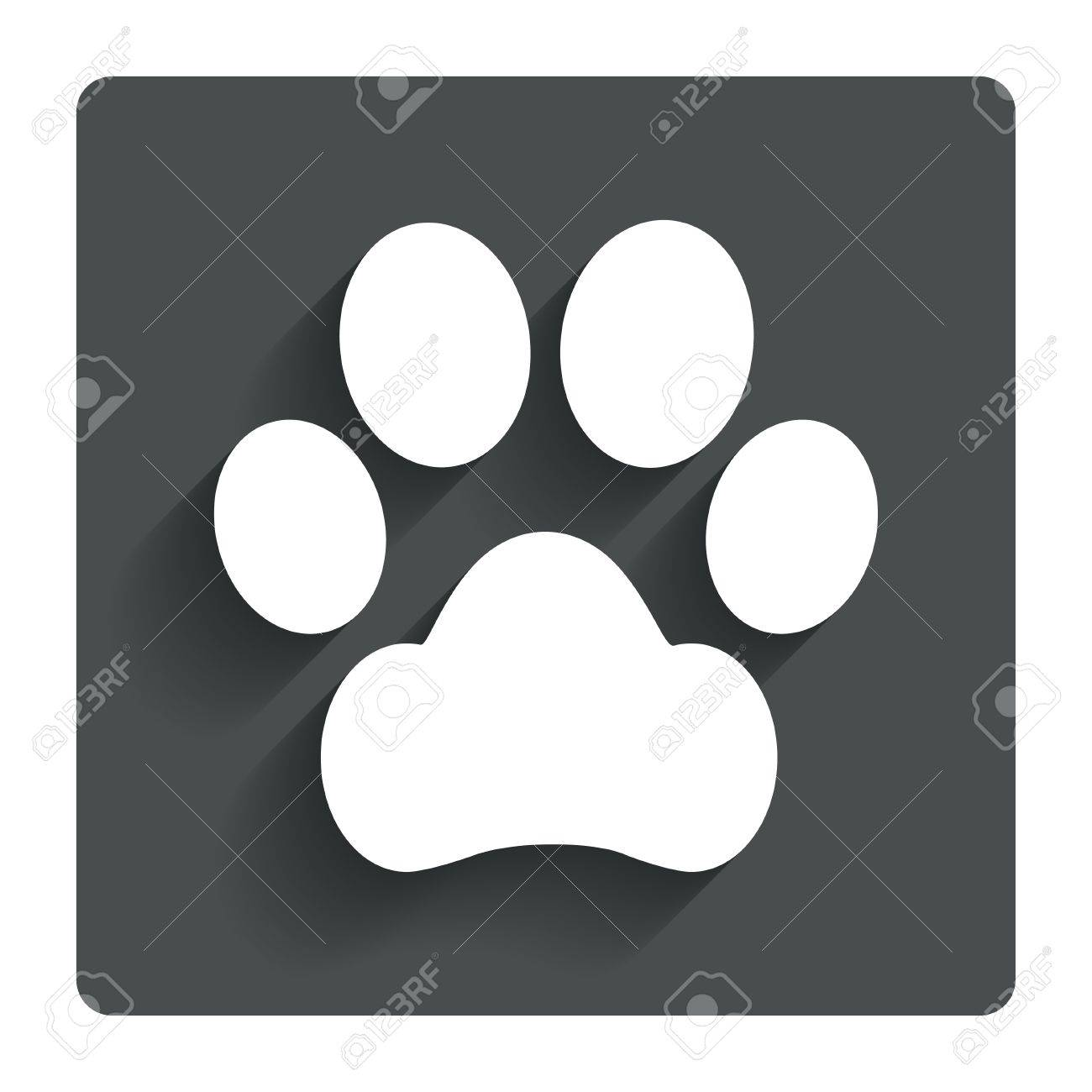 Dog paw sign icon pets symbol gray flat button with shadow dog paw sign icon pets symbol gray flat button with shadow modern ui biocorpaavc