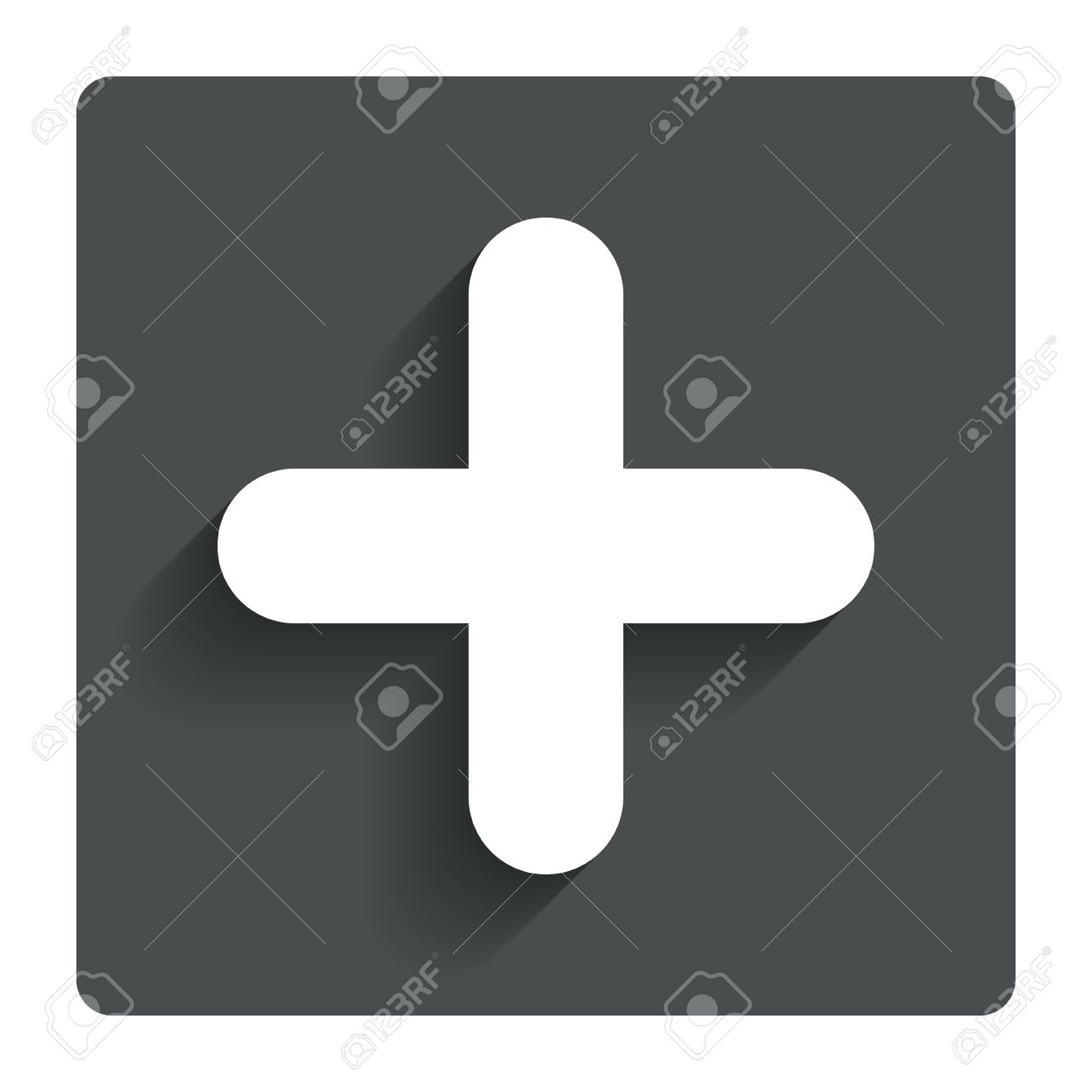 Plus sign icon positive symbol zoom in gray flat button with plus sign icon positive symbol zoom in gray flat button with shadow biocorpaavc Choice Image