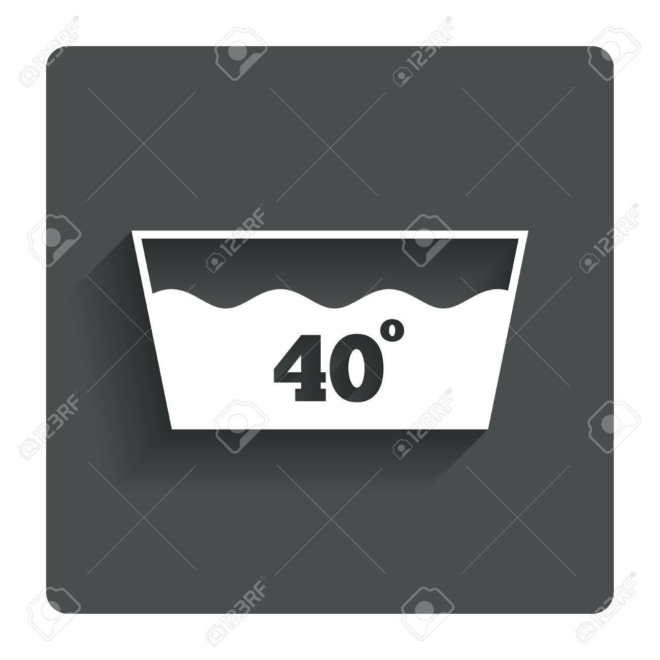 Wash Icon Machine Washable At 40 Degrees Symbol Stock Photo