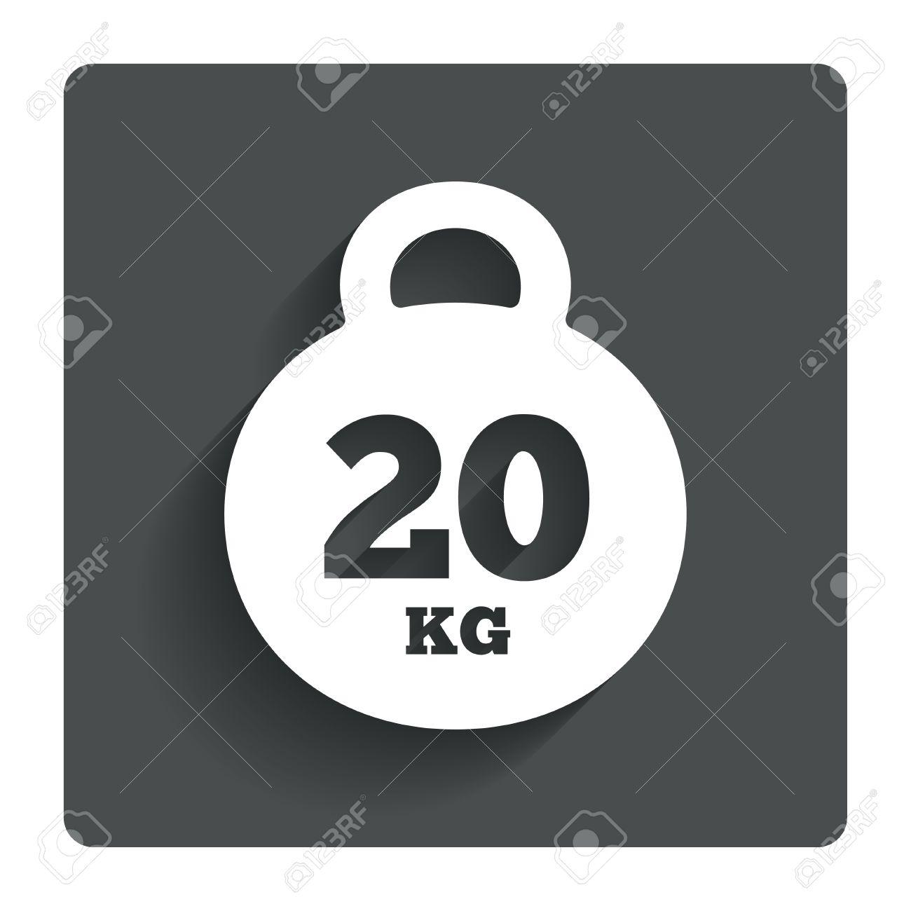 重量記号アイコン。20 キログラ...