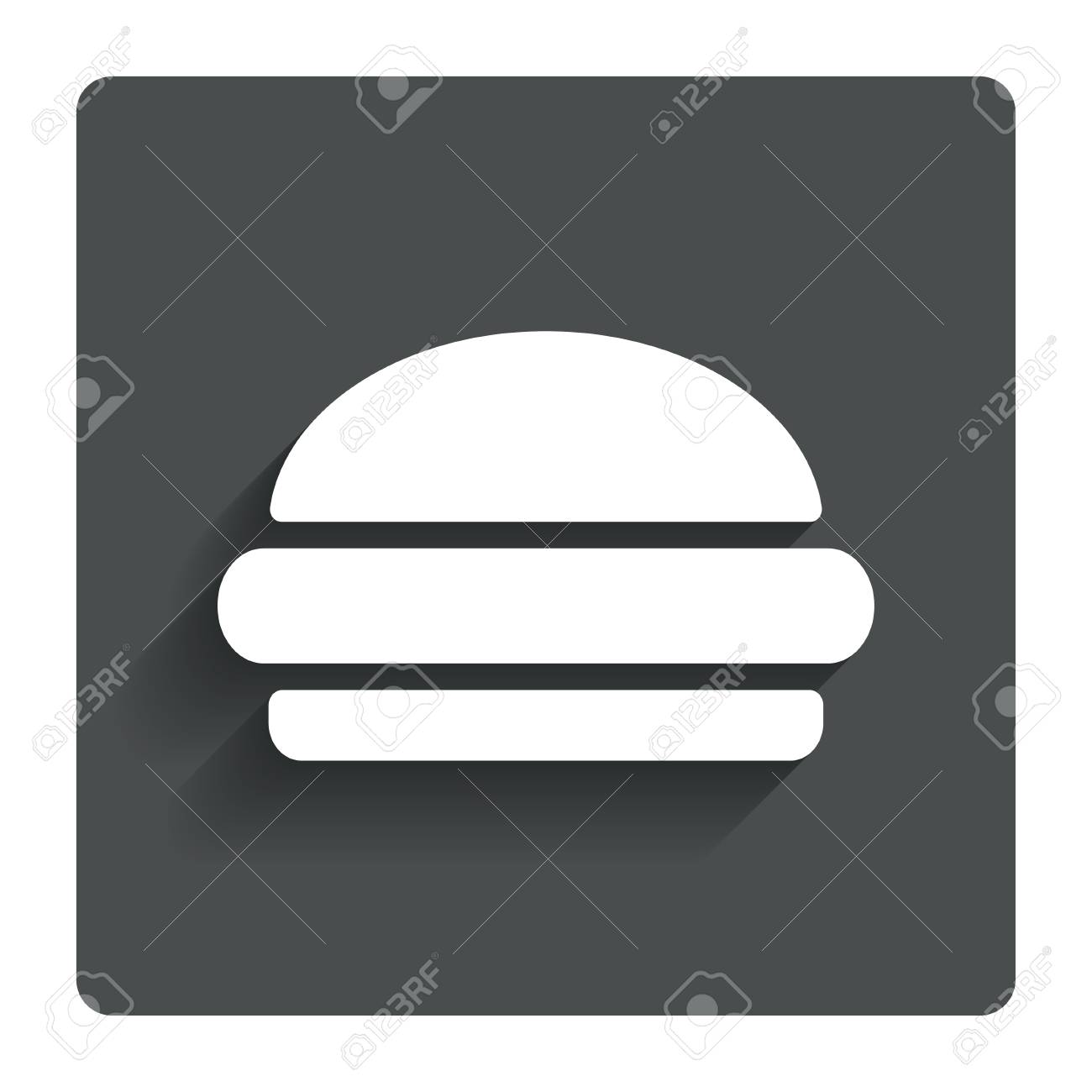Hamburger Sign Icon Fast Food Symbol Stock Photo Picture And