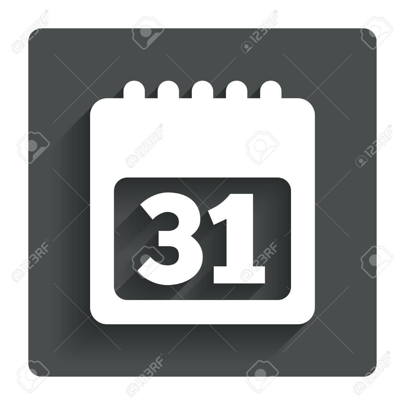 Calendar sign icon. 31 day month symbol. Stock Vector - 30654131
