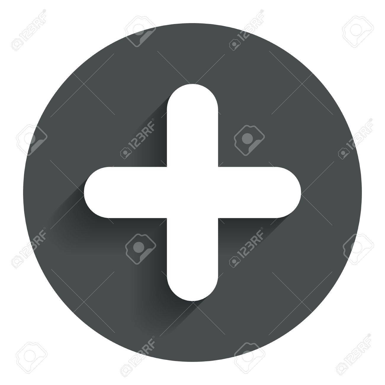 Plus sign icon positive symbol zoom in circle flat button plus sign icon positive symbol zoom in circle flat button with shadow biocorpaavc Choice Image
