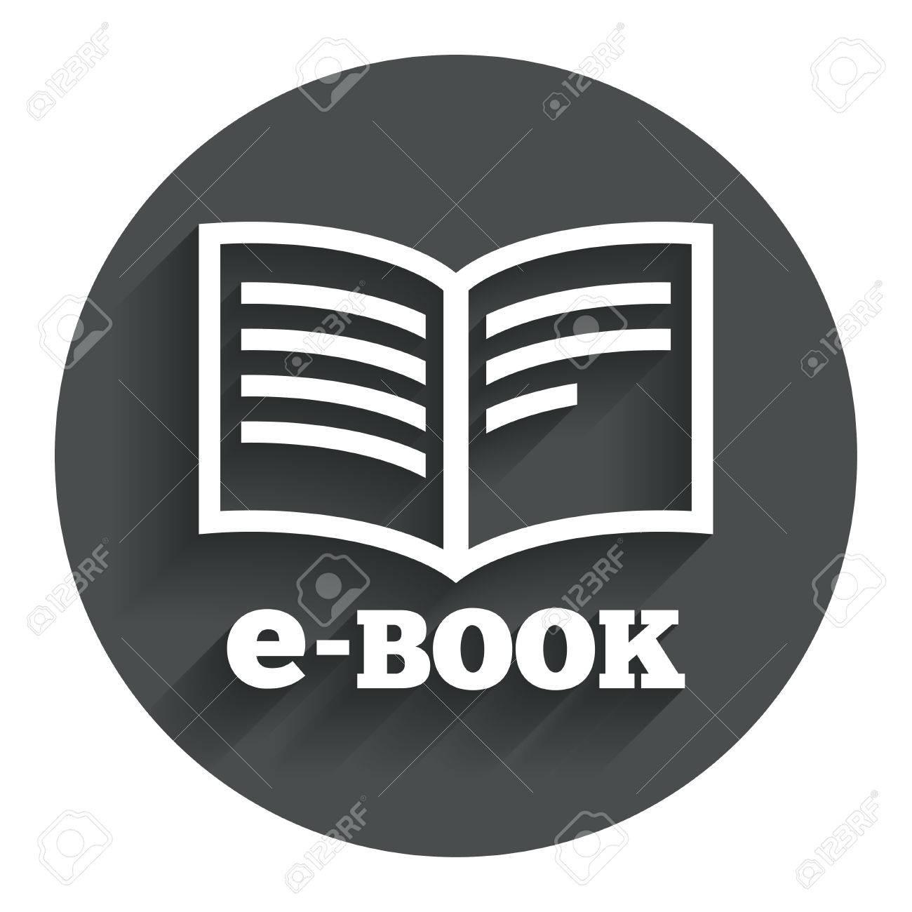 E Book Sign Icon Electronic Book Symbol Ebook Reader Device