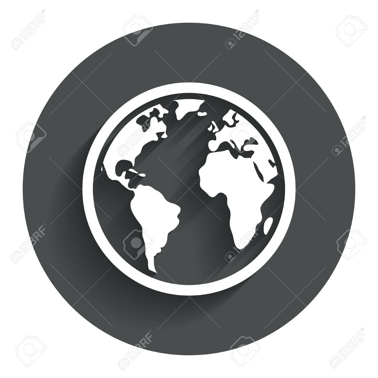Globe sign icon world map geography symbol circle flat button world map geography symbol circle flat button with shadow modern gumiabroncs Images