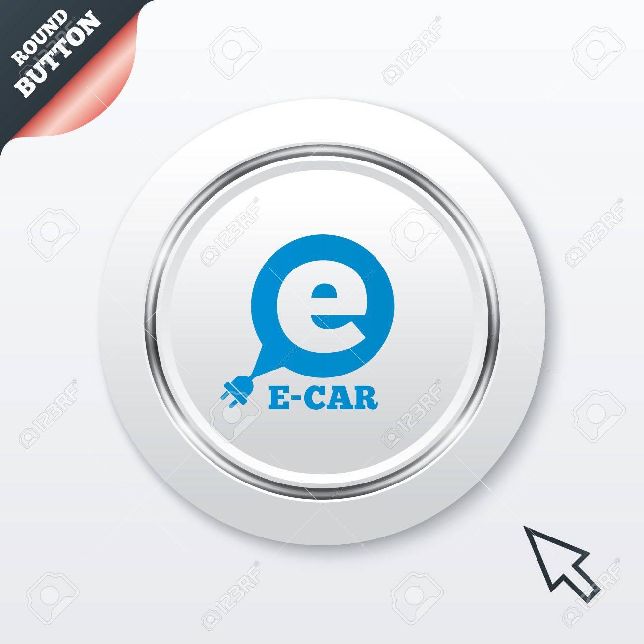 Elektro-Auto-Zeichen-Symbol. Elektrische Fahrzeug-Transport-Symbol ...