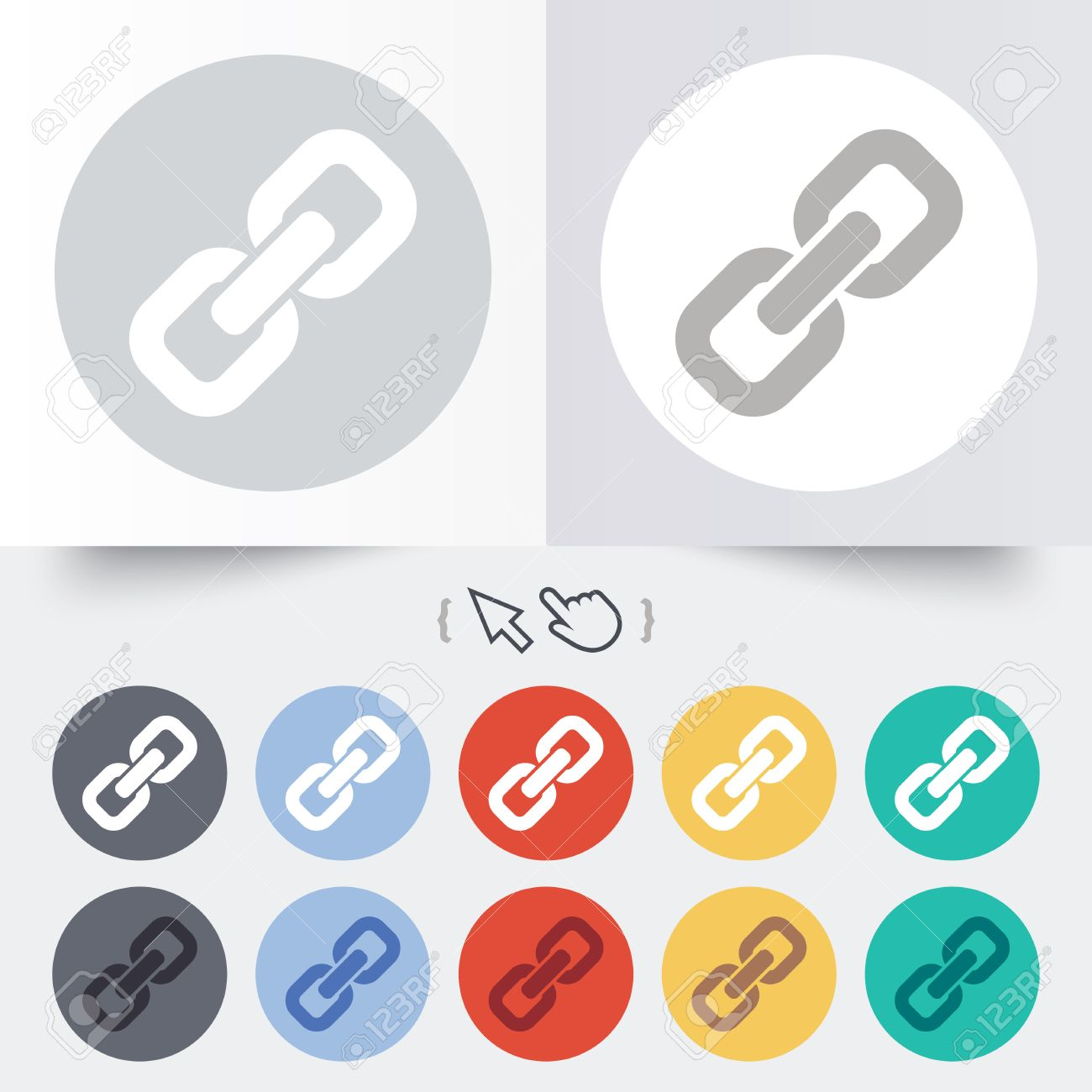Hyperlink Hand Icon