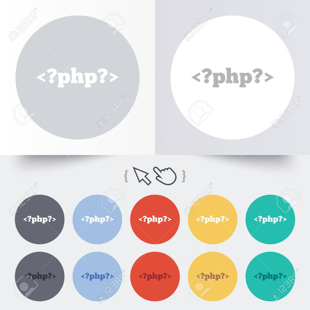 Php sign icon programming language symbol round 12 circle buttons php sign icon programming language symbol round 12 circle buttons shadow hand ccuart Image collections