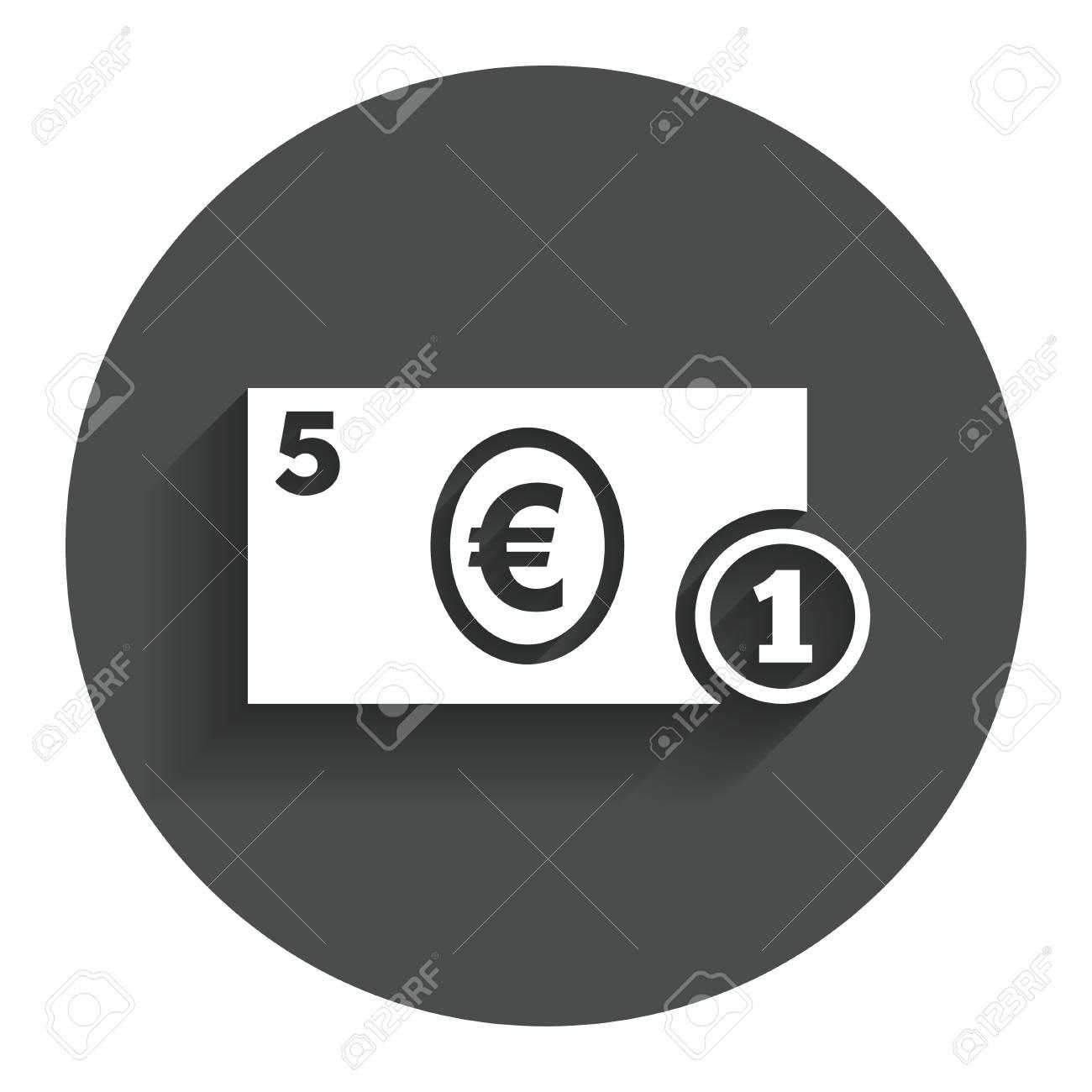 Cash sign icon euro money symbol eur coin and paper money cash sign icon euro money symbol eur coin and paper money circle flat buycottarizona Gallery