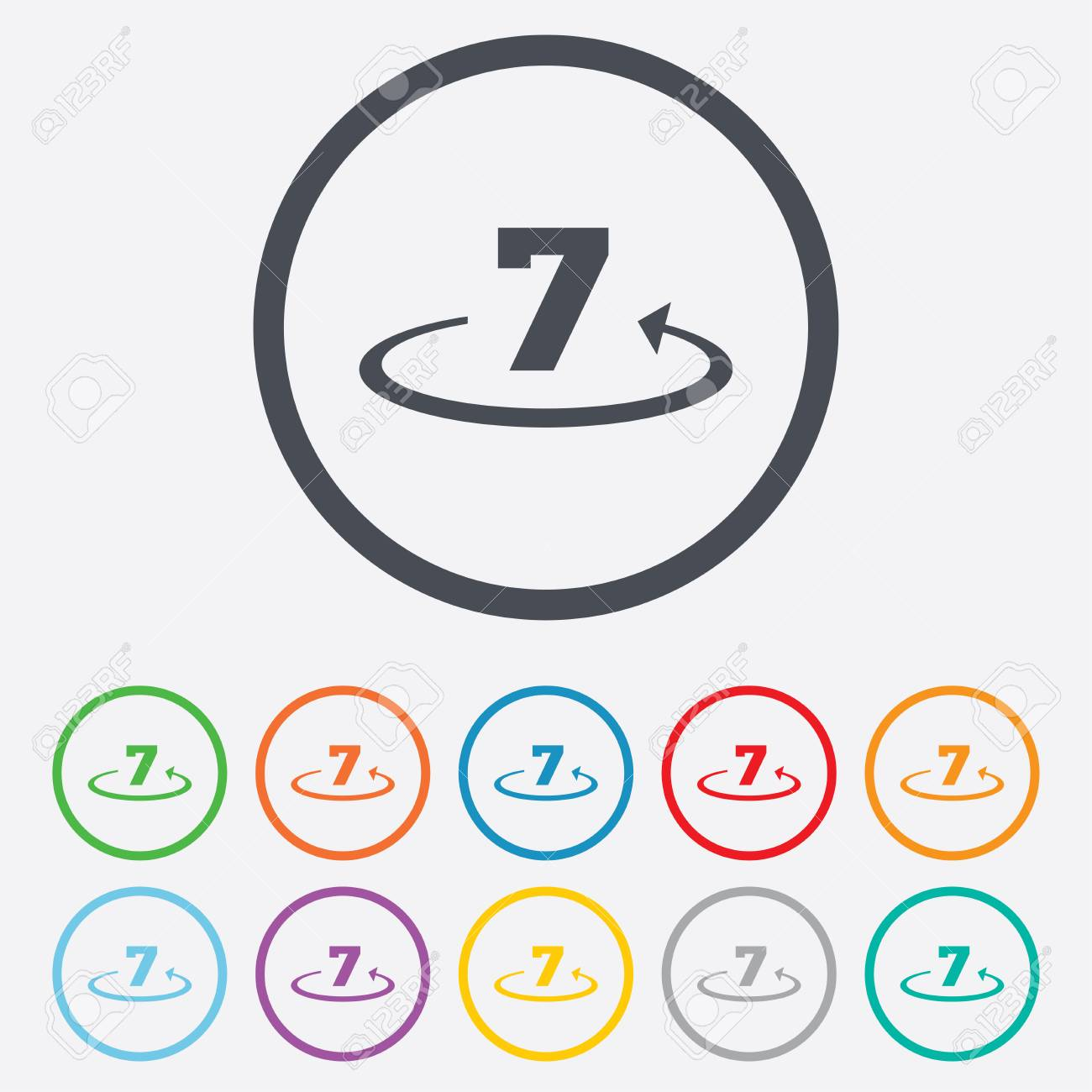 Return Of Goods Within 7 Days Sign Icon Warranty Exchange Symbol