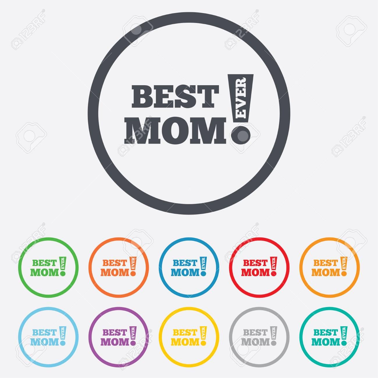 Best Mom Ever Symbol Unterzeichnen. Auszeichnung Symbol ...