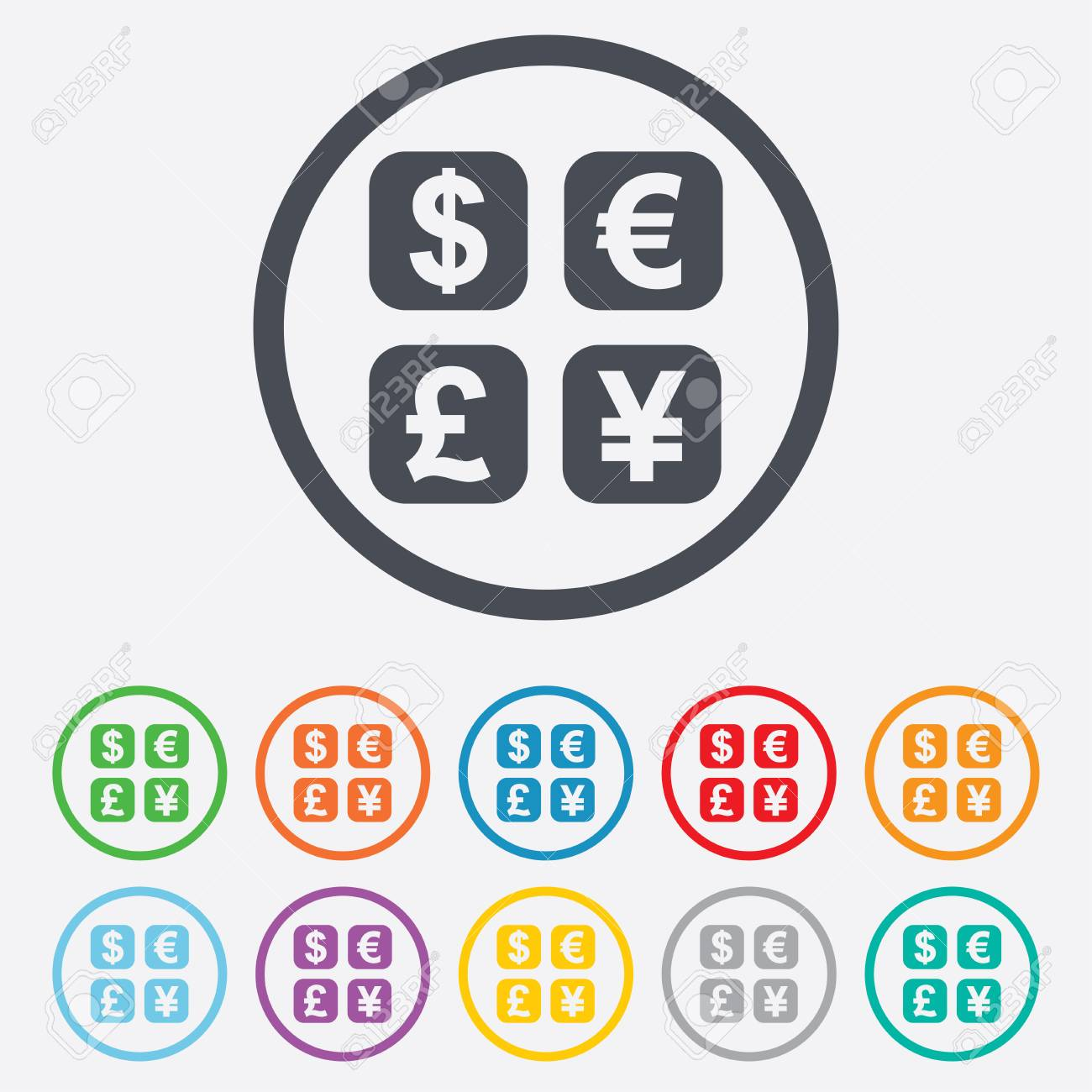 Currency Exchange Sign Icon Currency Converter Symbol Money