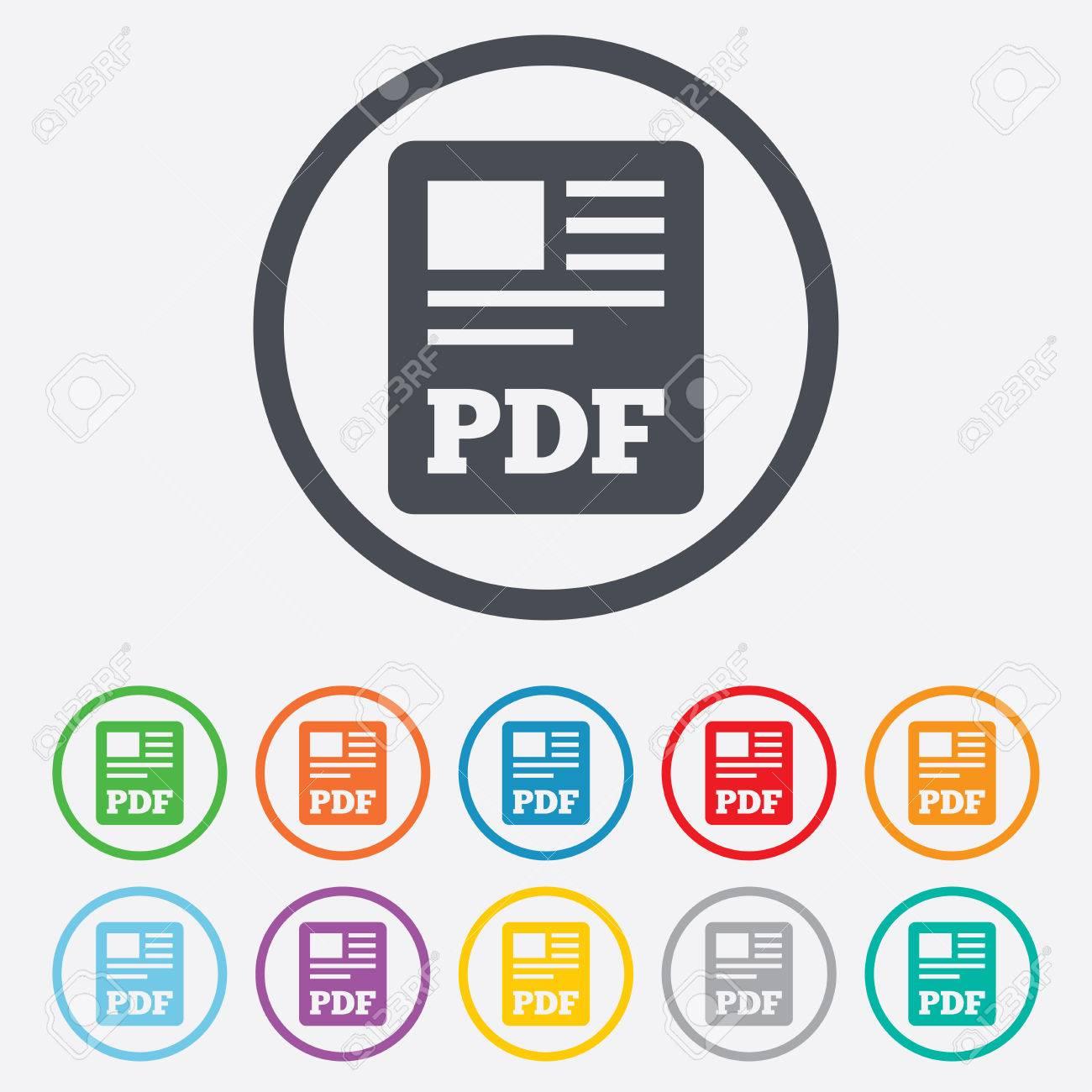 PDF-Dokument-Symbol. Download Pdf-Taste. PDF-Datei-Symbol. Runde ...