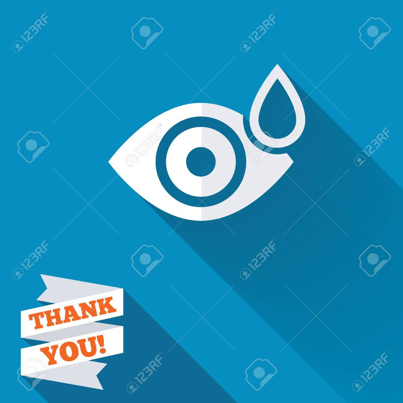 Eye With Water Drop Sign Icon Drip Into The Eyes Symbol White