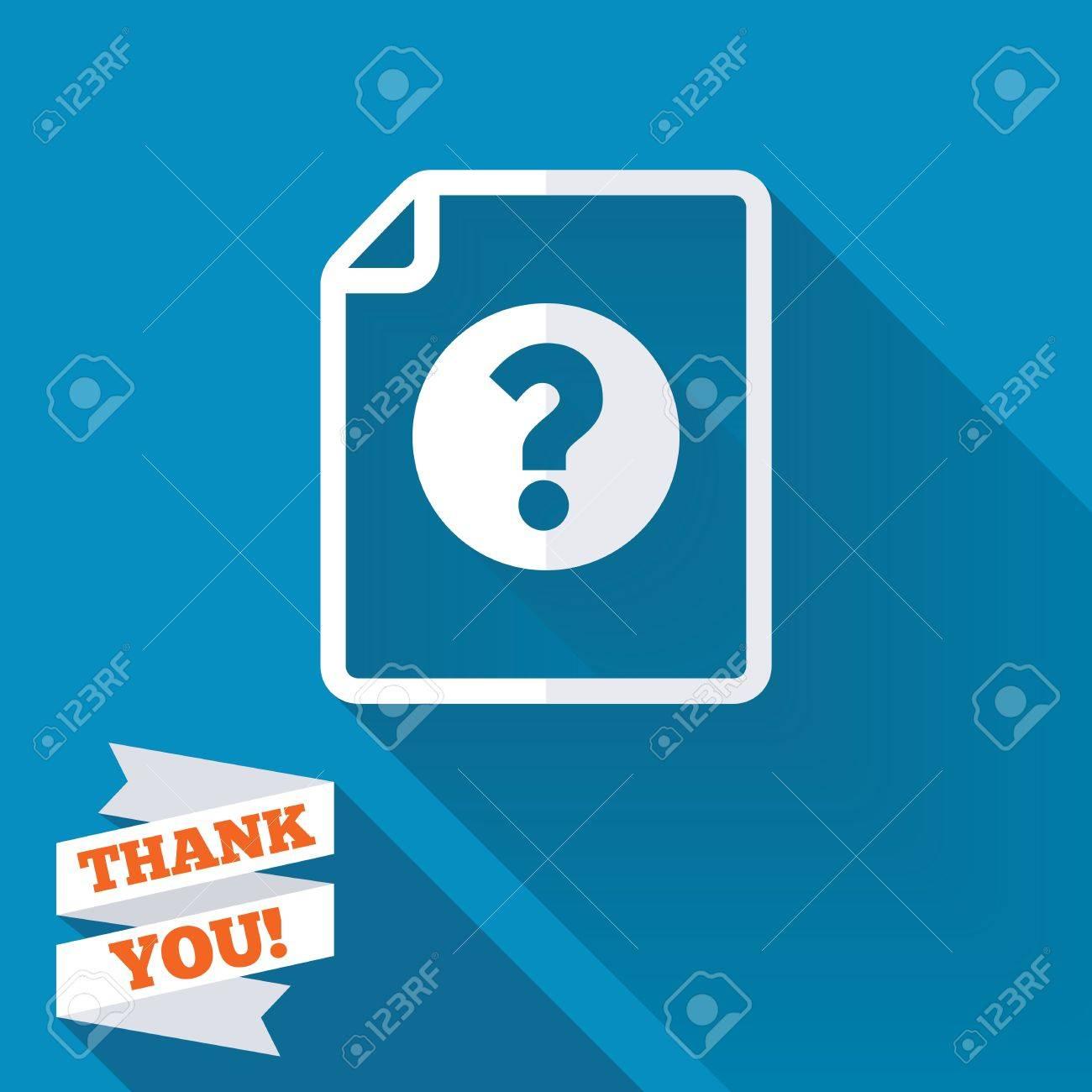 File Document Help Icon Question Mark Symbol White Flat Icon