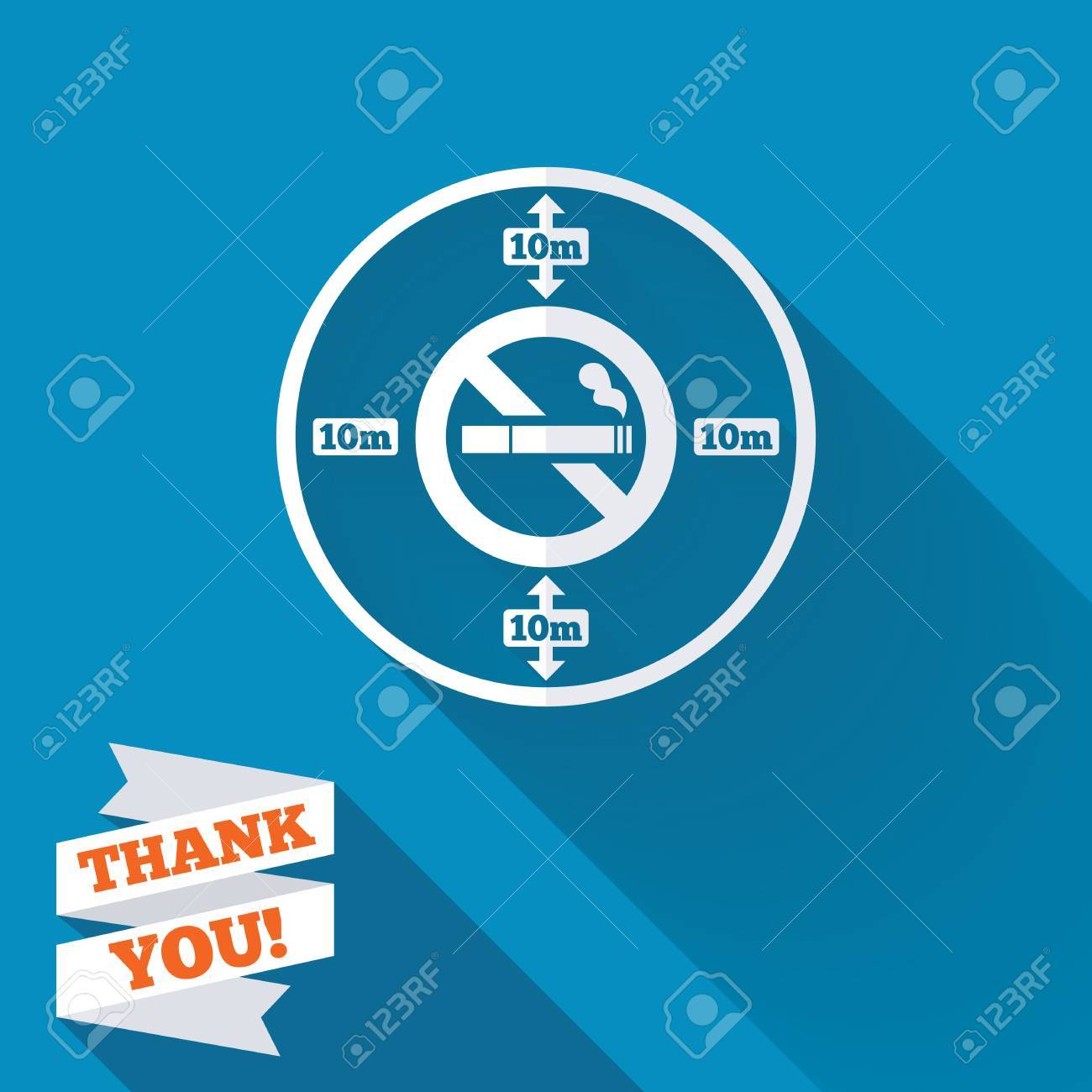 No smoking 10m distance sign icon stop smoking symbol white no smoking 10m distance sign icon stop smoking symbol white flat icon with long buycottarizona Images