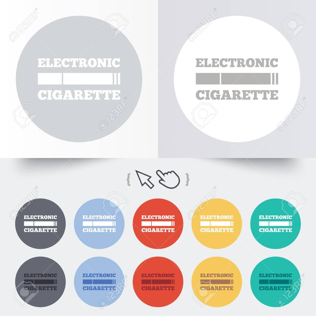 Raucherzeichen-Symbol. E-Zigarette Symbol. Elektronische Zigarette ...