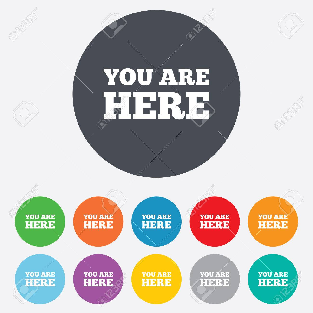 You Are Here Sign Icon Info Text Symbol For Your Location Round