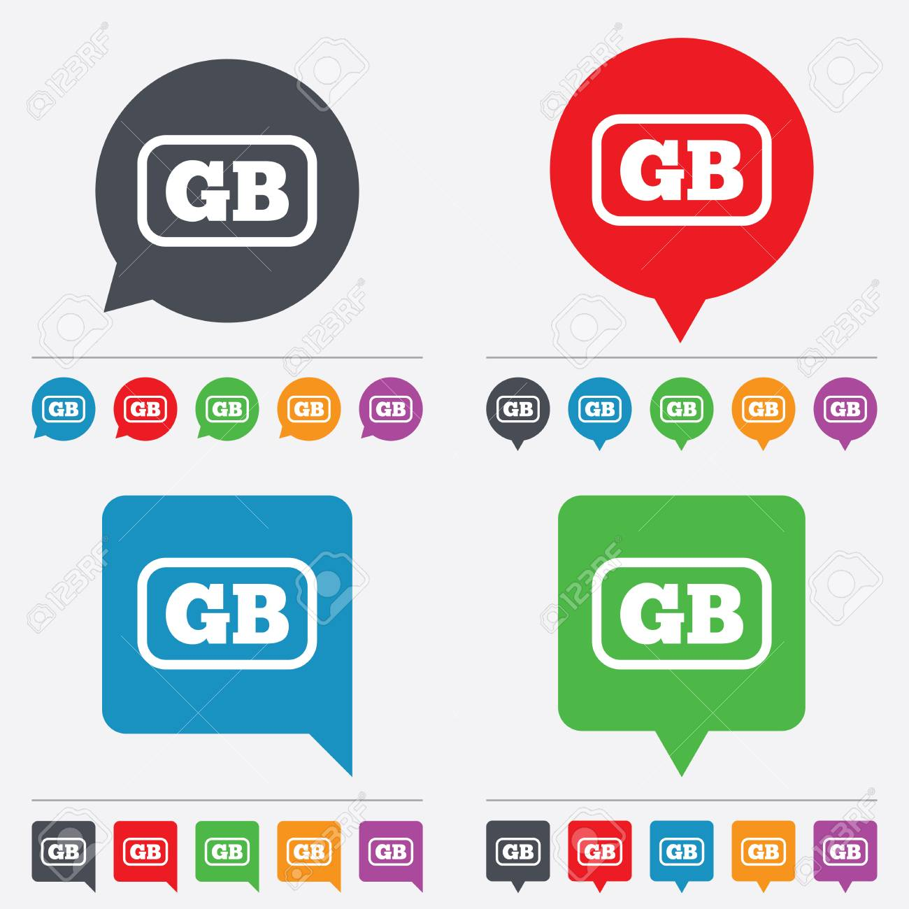 british language sign icon gb great britain translation symbol