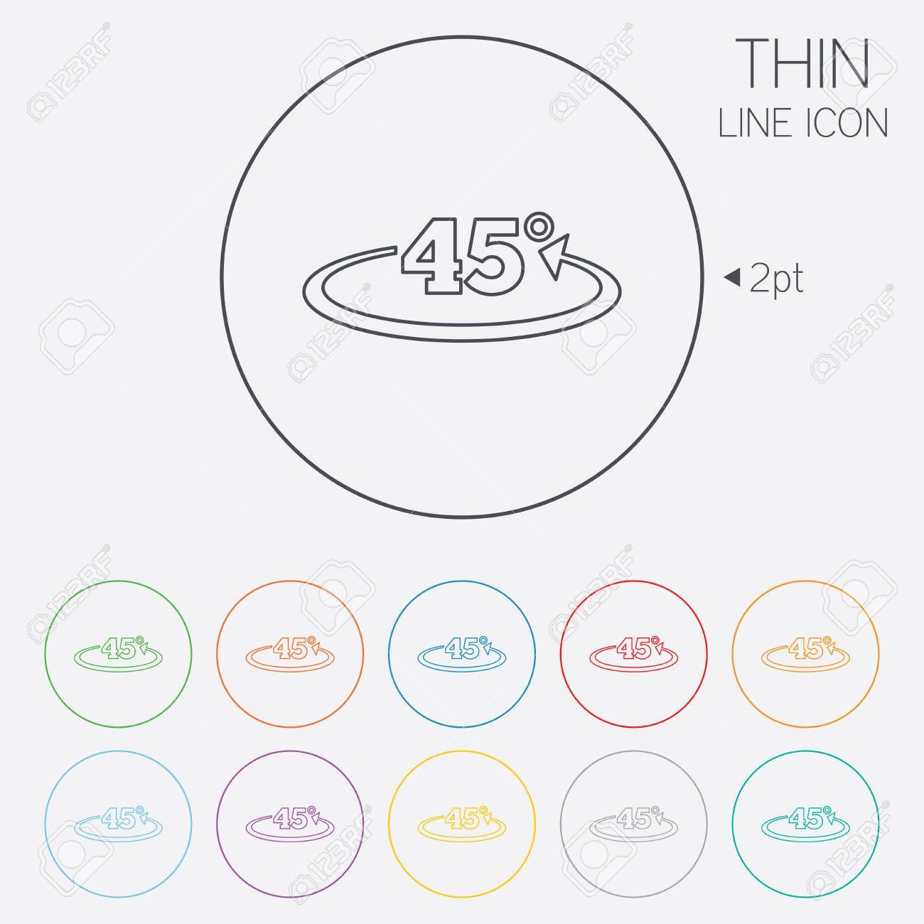 winkel 45 grad unterzeichnen symbol. geometrie mathe symbol. dünne