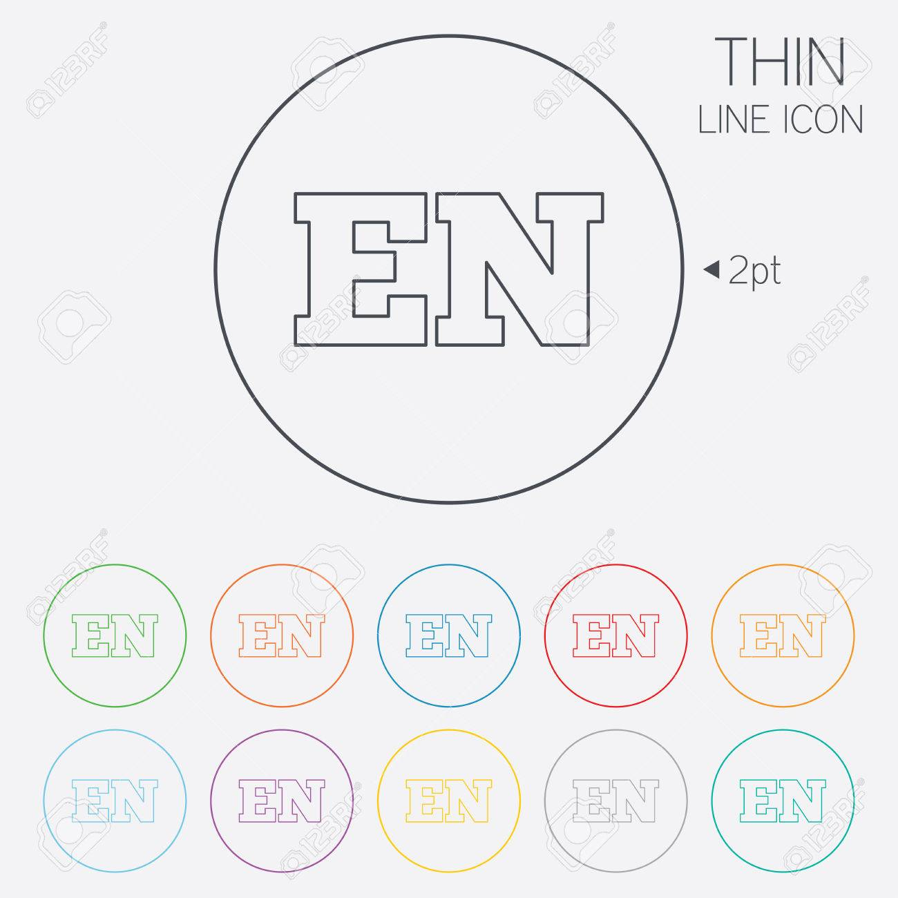 English language sign icon en translation symbol thin line english language sign icon en translation symbol thin line circle web icons with outline ccuart Gallery