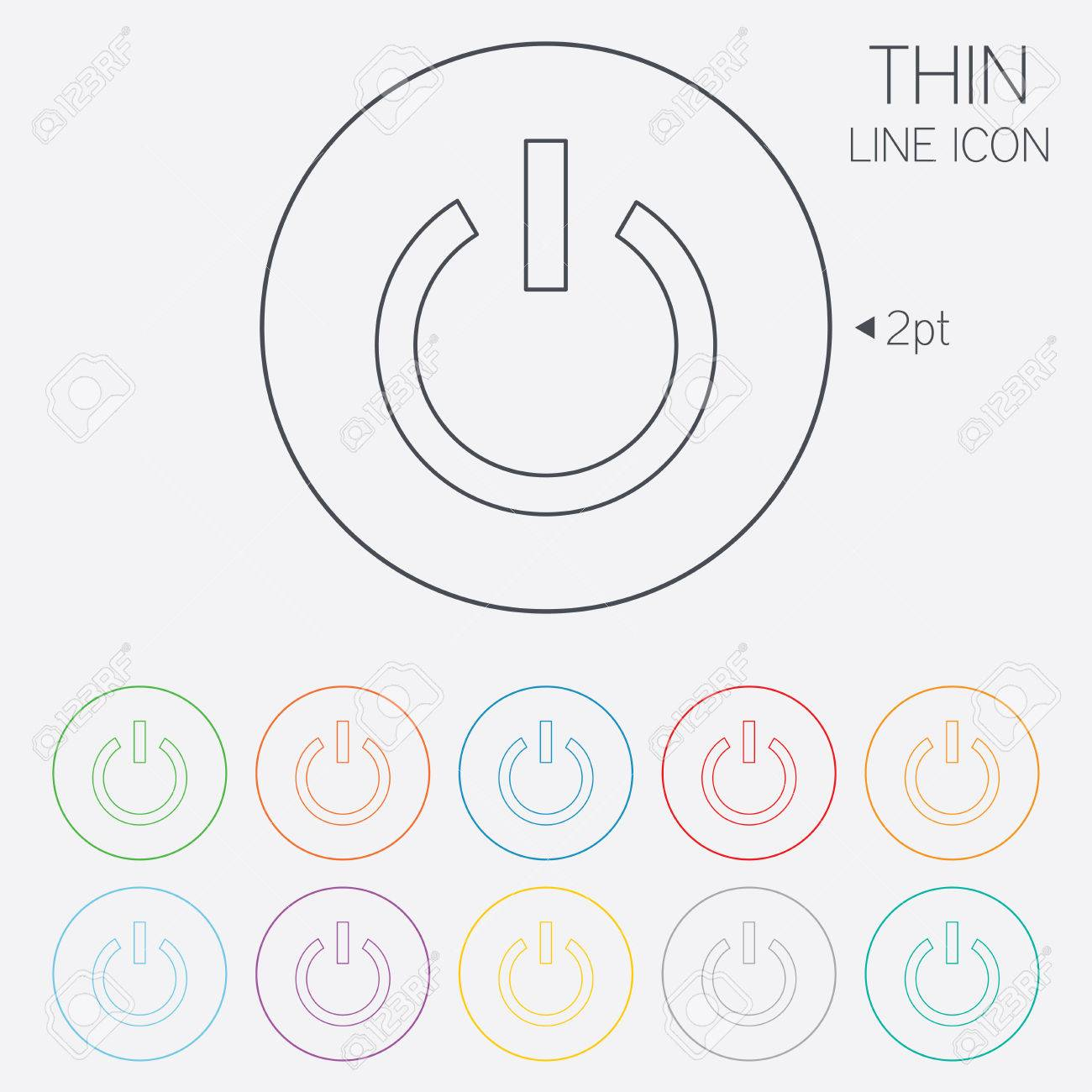 Power Sign Icon Switch On Symbol Turn On Energy Thin Line