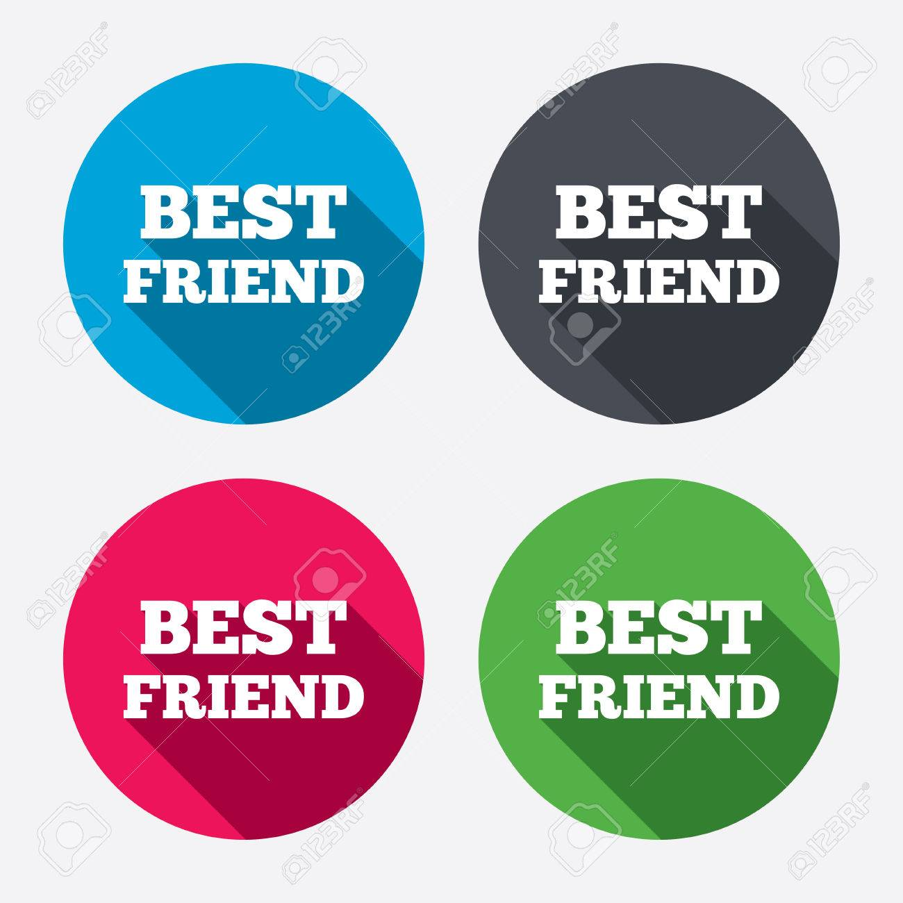 Bester Freund Symbol. Auszeichnung Symbol. Kreis-Schaltflächen Mit ...
