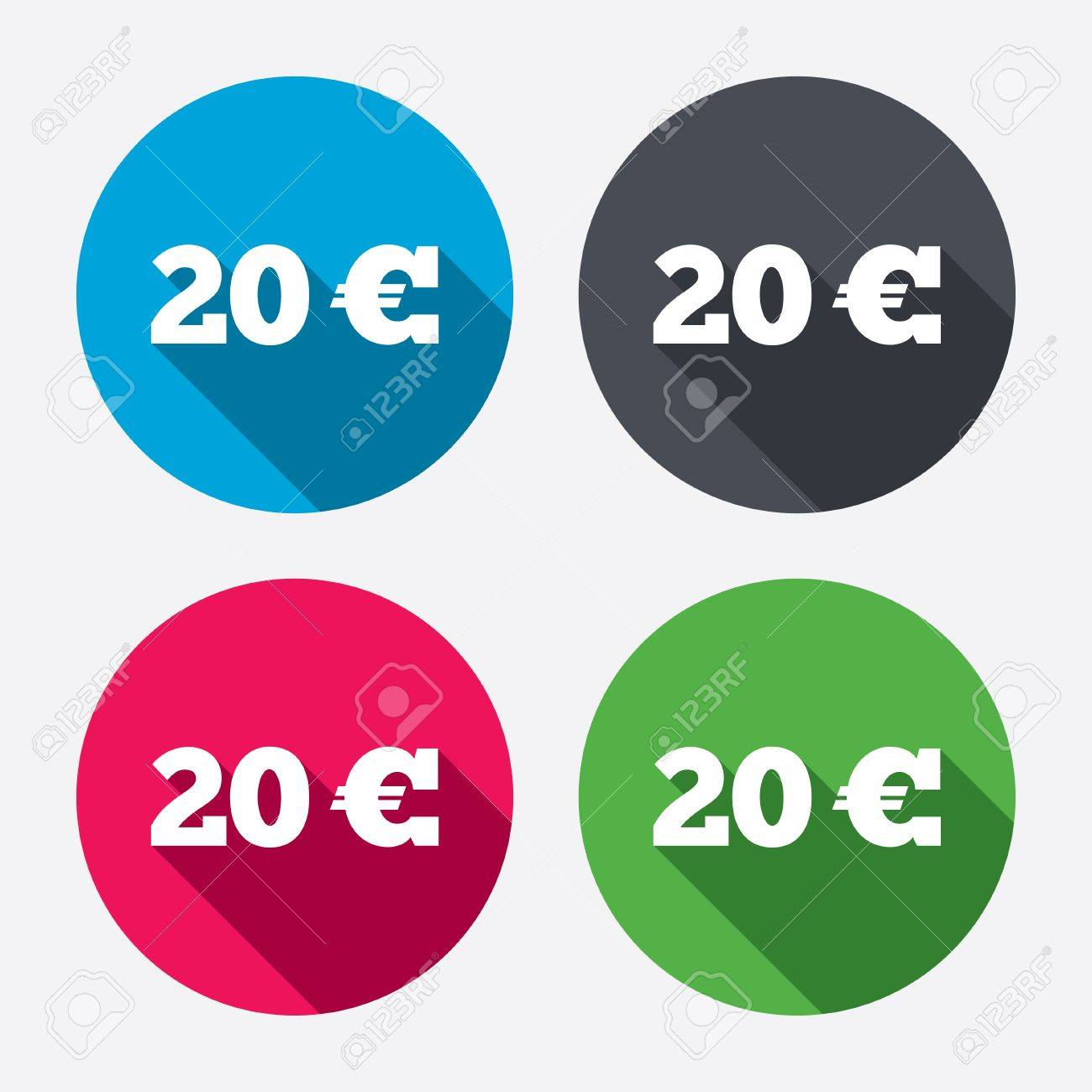 20 euro sign icon eur currency symbol money label circle 20 euro sign icon eur currency symbol money label circle buttons with long biocorpaavc