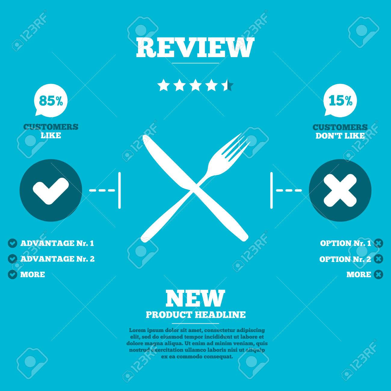 Review with five stars rating eat sign icon cutlery symbol review with five stars rating eat sign icon cutlery symbol fork and knife biocorpaavc