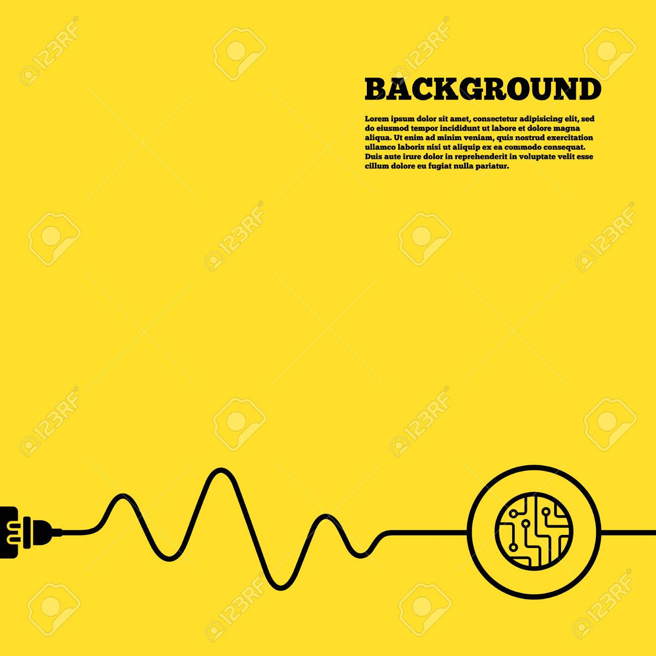 Electric Plug Background. Circuit Board Sign Icon. Technology ...