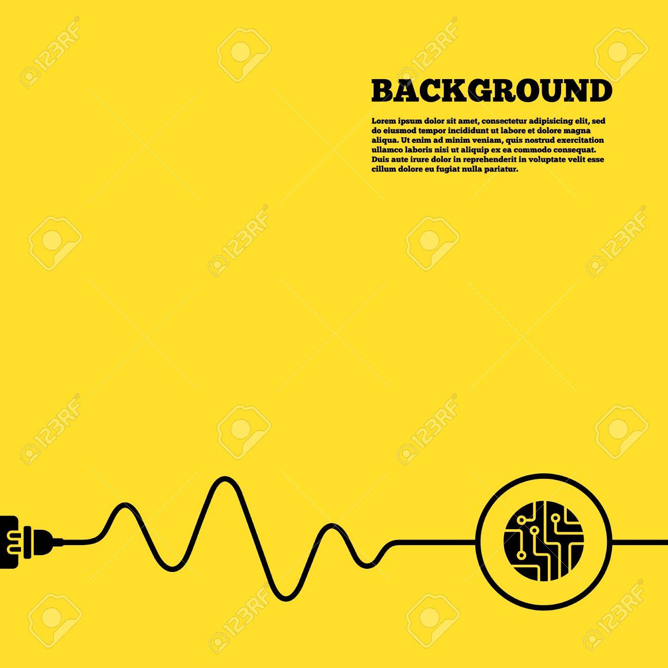 Orange Circuit Board Plugs Quick Start Guide Of Wiring Diagram Rockerverb Electric Plug Background Sign Icon Technology Rh 123rf Com 2 Pin