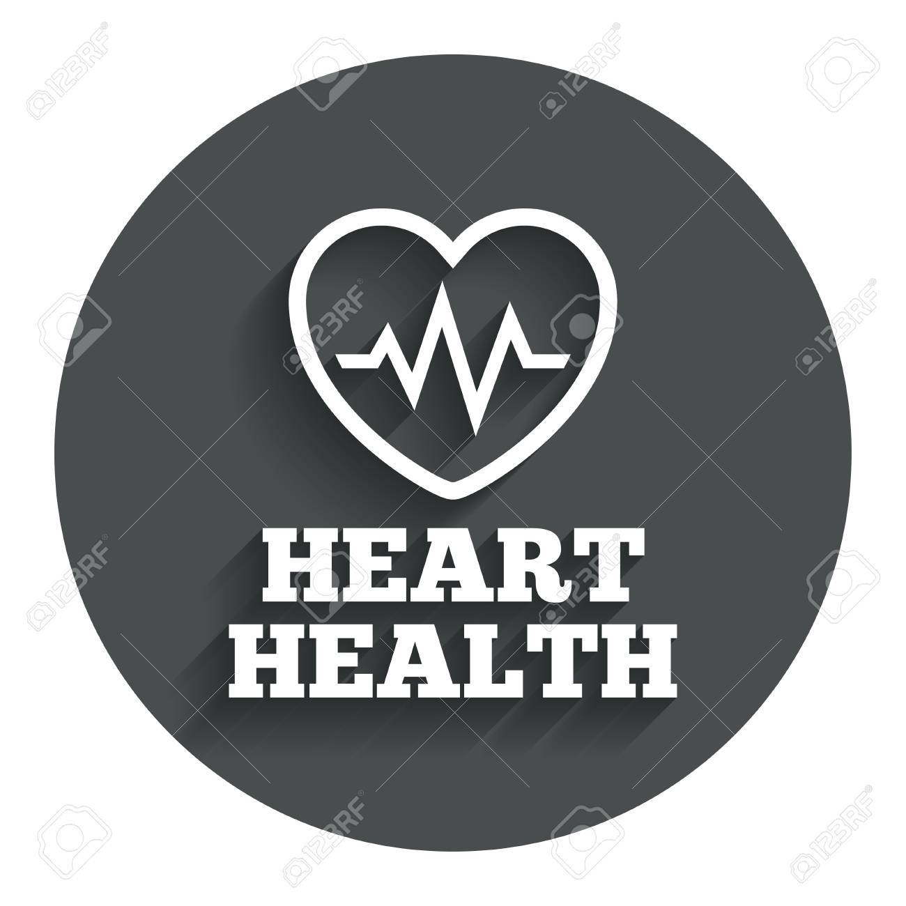 Heartbeat Sign Icon Heart Health Cardiogram Check Symbol Gray