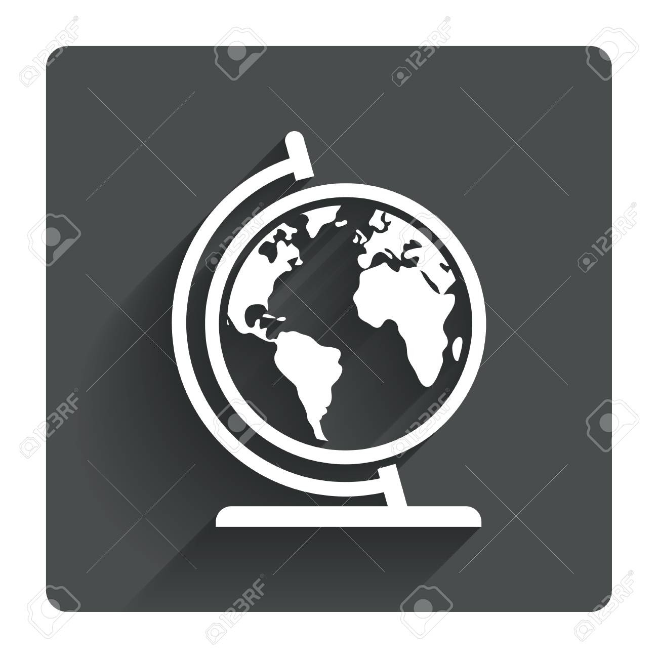 Globe sign icon world map geography symbol globe on stand for globe sign icon world map geography symbol globe on stand for studying gray gumiabroncs Gallery