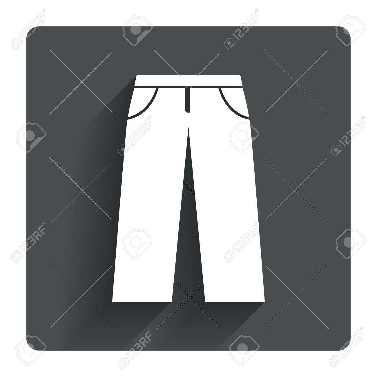 Mens jeans or pants sign icon casual clothing symbol gray mens jeans or pants sign icon casual clothing symbol gray flat square button with biocorpaavc