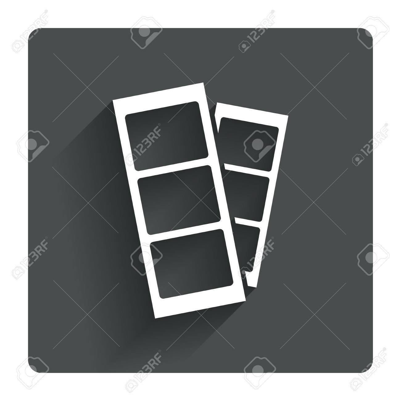 Photo Booth Streifen Melden Sie Symbol. Foto-Rahmen-Vorlage-Symbol ...