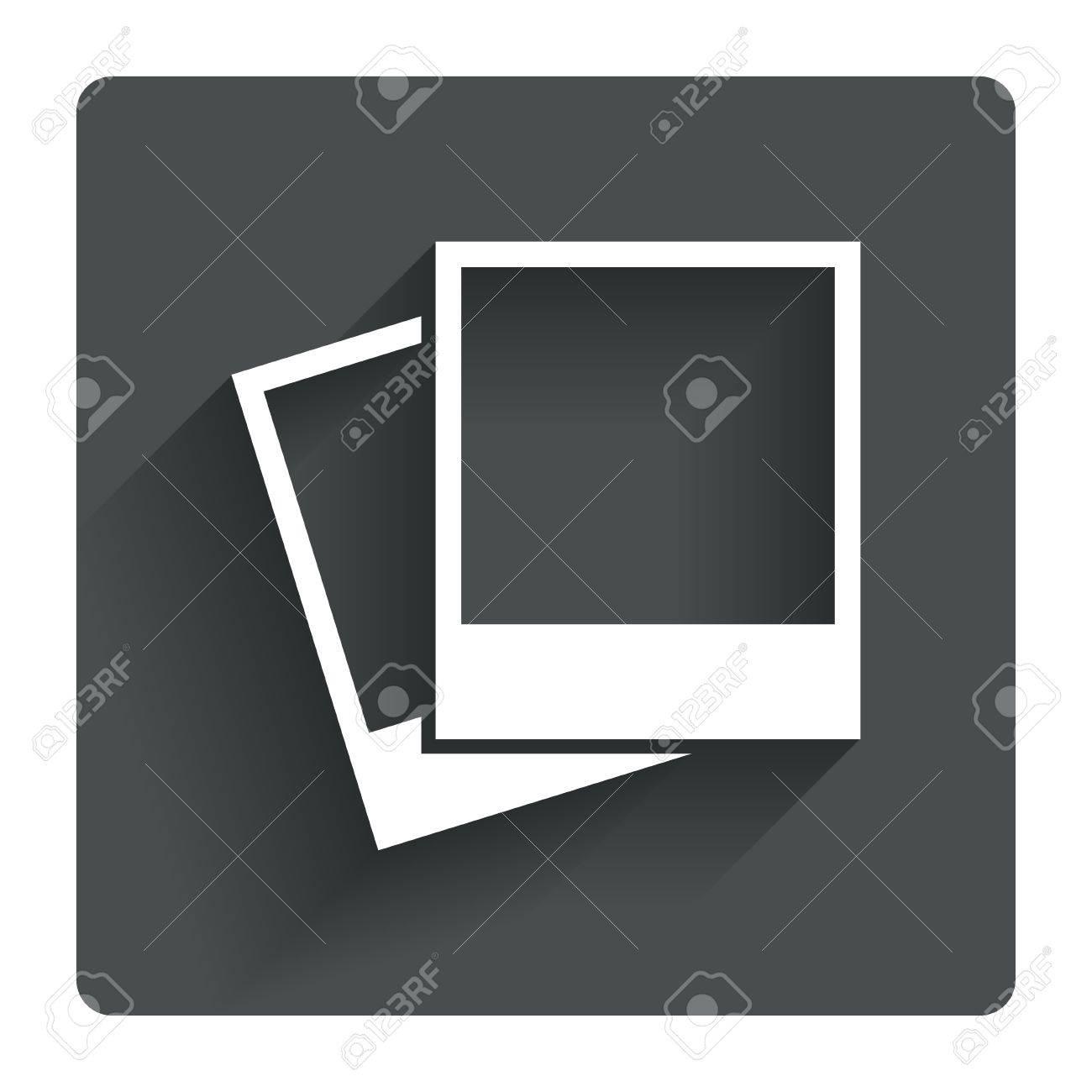 Photo frames template sign icon empty photography symbol gray photo frames template sign icon empty photography symbol gray flat square button with shadow buycottarizona Gallery