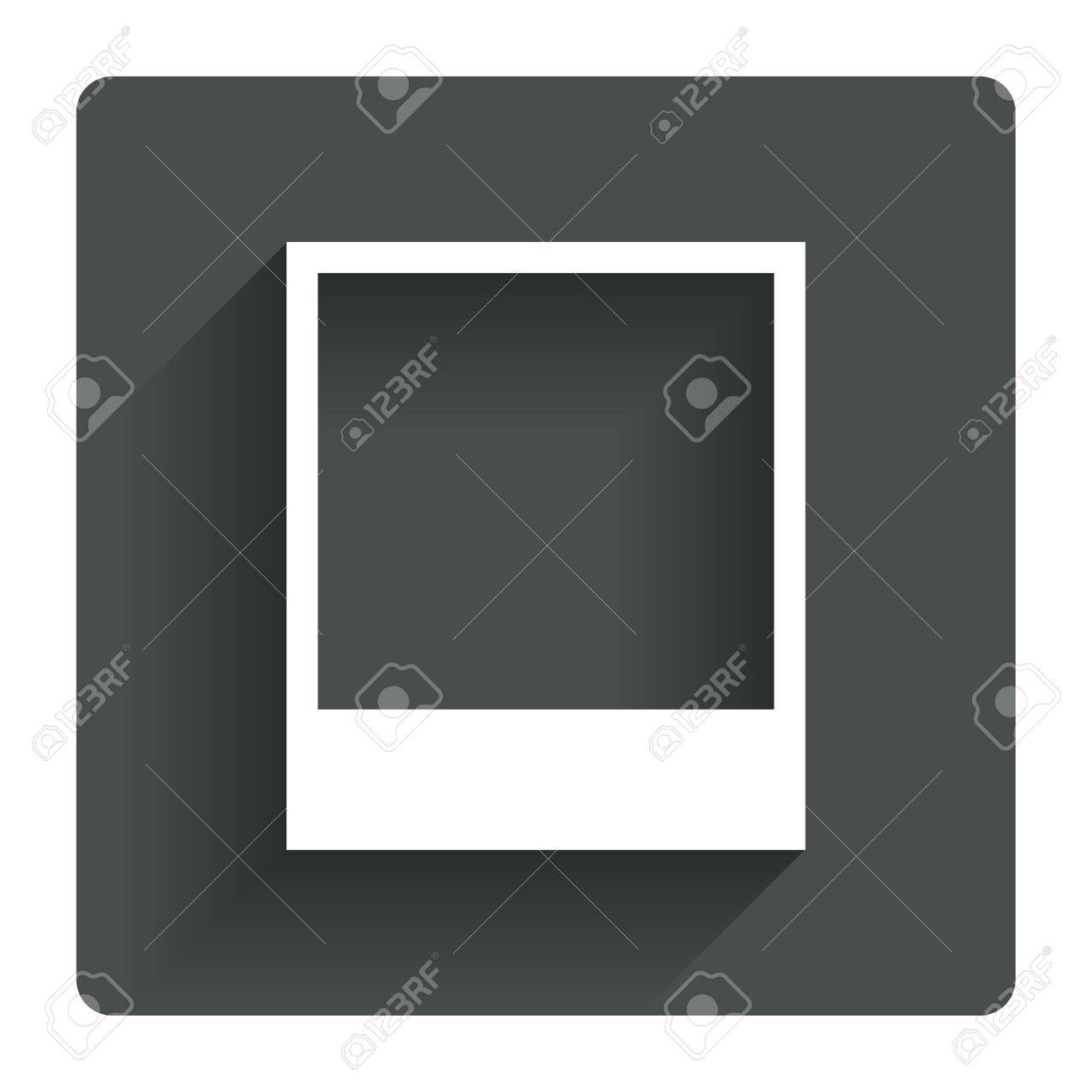 Photo frame template sign icon empty polaroid photography symbol photo frame template sign icon empty polaroid photography symbol gray flat square button with pronofoot35fo Choice Image