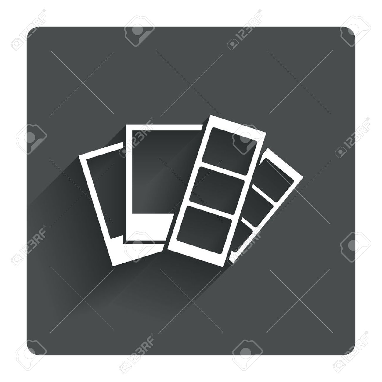 Photo Frame Template Sign Icon. Photo Booth Strips With Polaroid ...