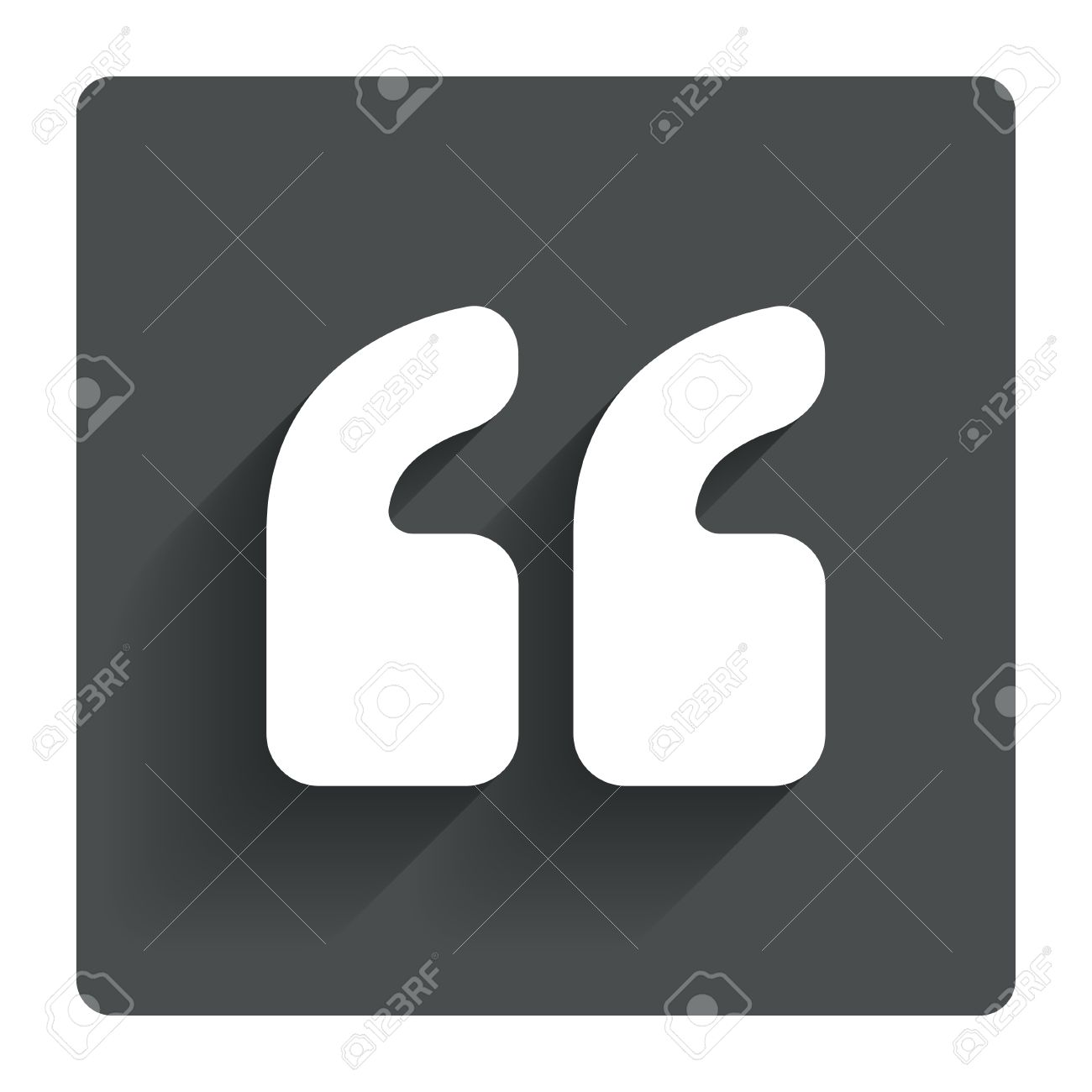 Quote Sign Icon. Quotation Mark Symbol. Double Quotes At The ...