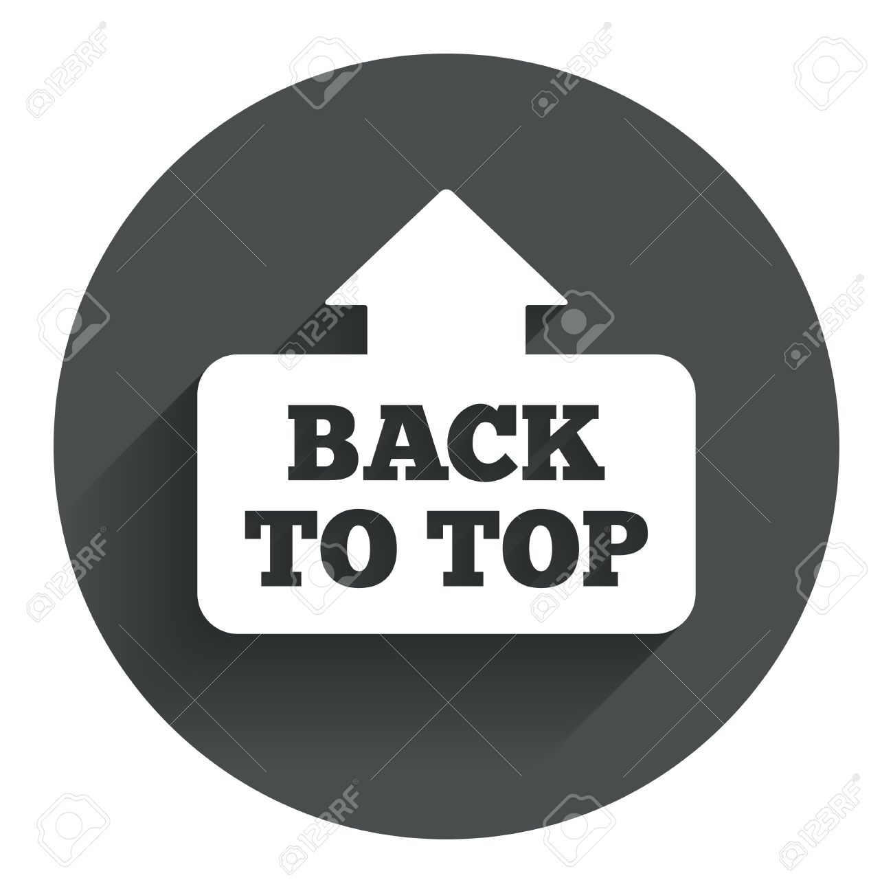 Back Icon Flat Back to Top Arrow Sign Icon