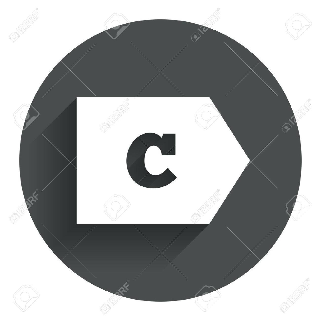 Energy efficiency class c sign icon energy consumption symbol energy efficiency class c sign icon energy consumption symbol circle flat button with shadow biocorpaavc Images